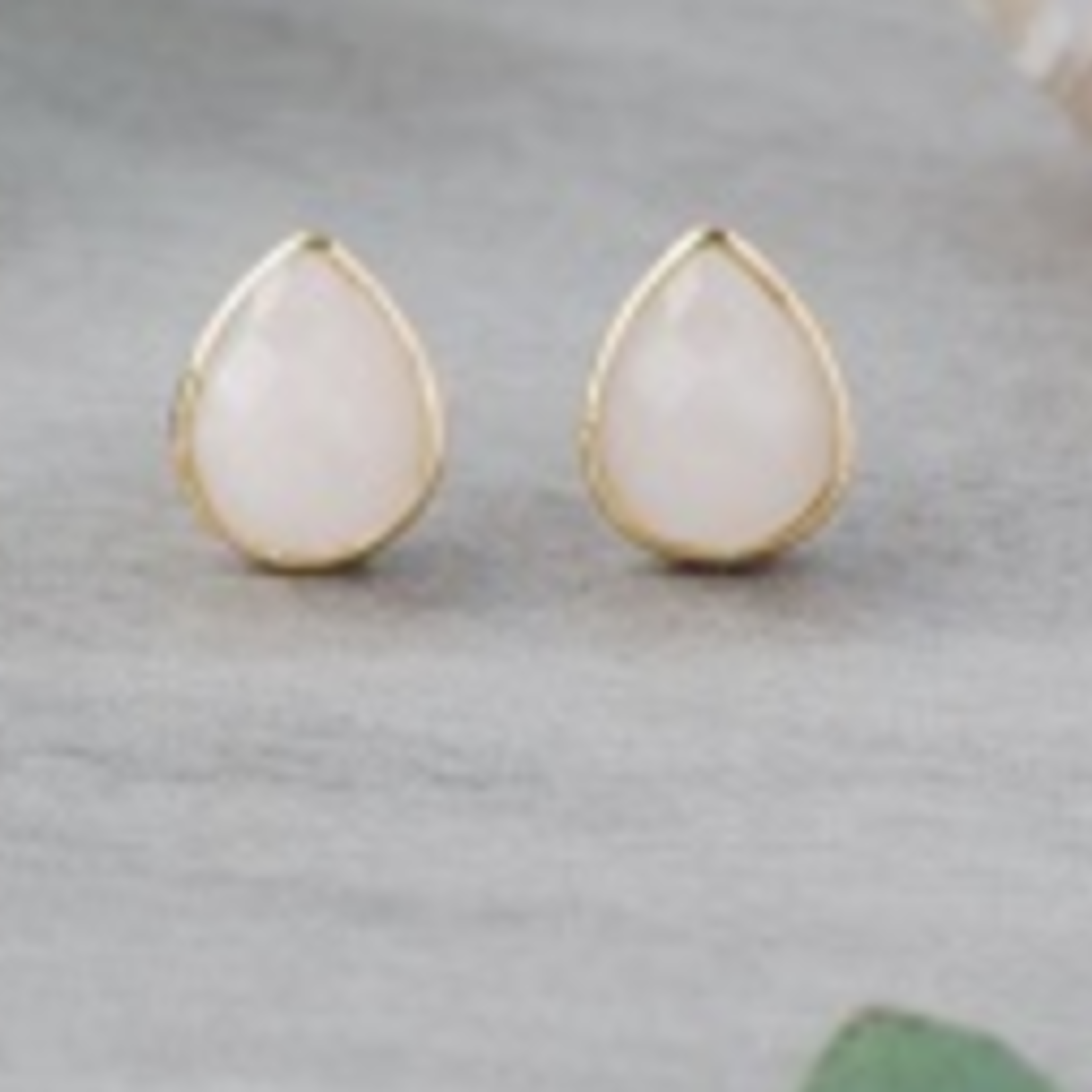 Crown Studs Rose Gold/Rose Quartz