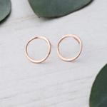 Orb Stud Earrings Rose Gold