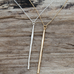 Wand Pendant Necklace- Gold