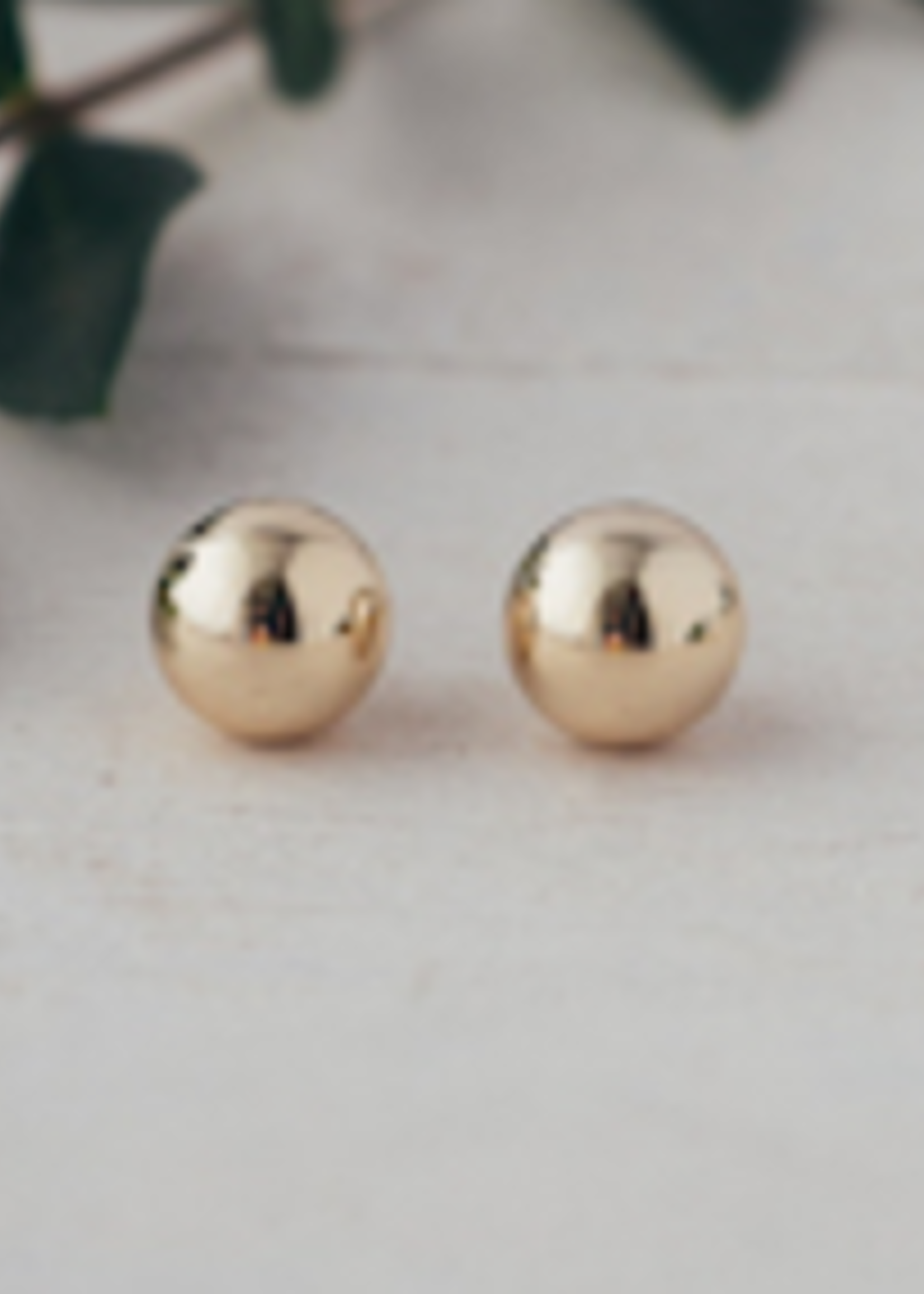 Ball Stud Earring Gold