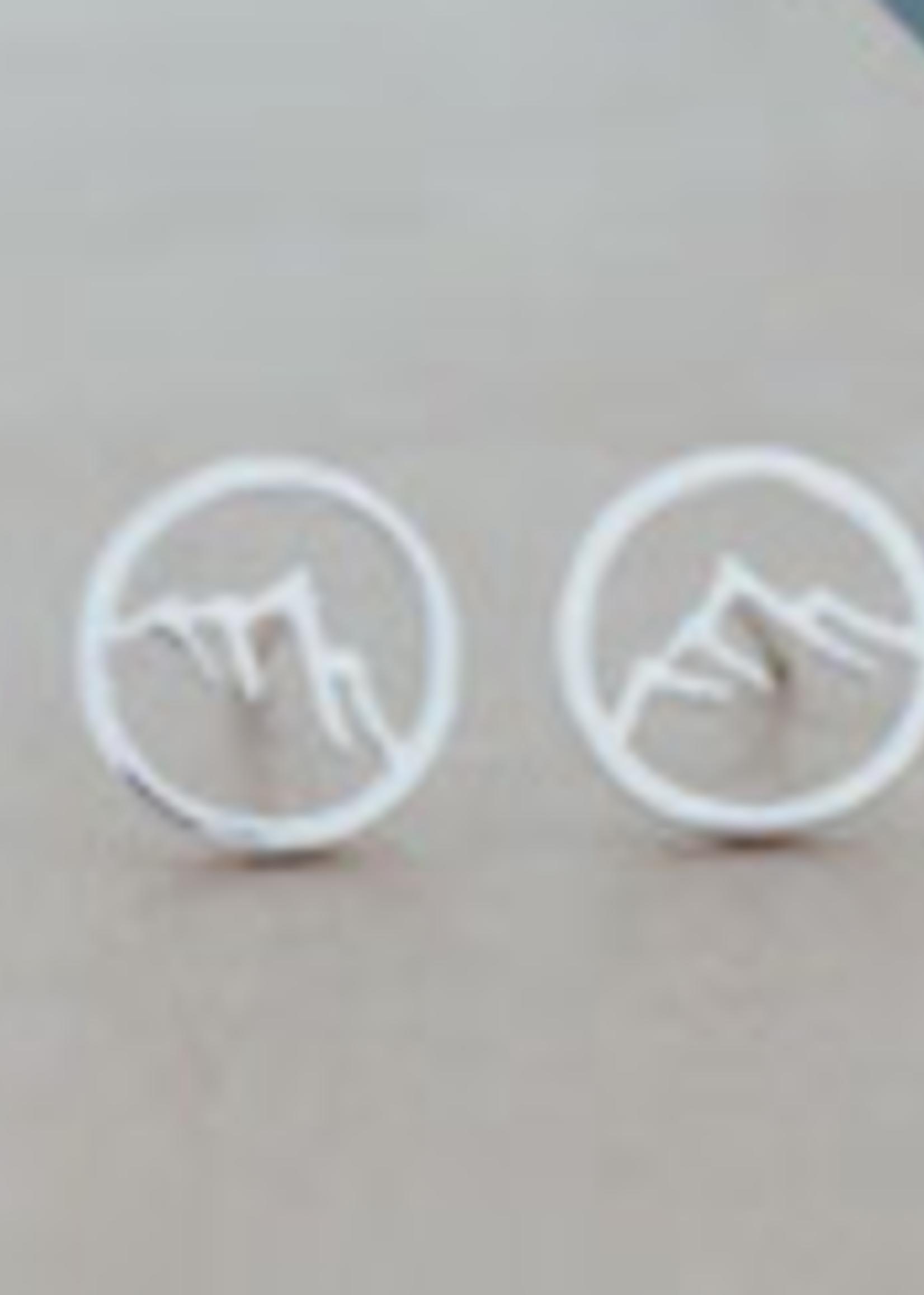 Glee Jewelry Snowcap Stud- Silver