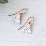 Summit Earring Rosegold Howlite