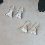 Summit Earring Gold Howlite