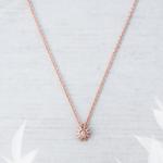 Starburst Necklace Rosegold