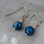 Mingle earring gold/Kyanite