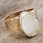 Goddess Ring Gold/White