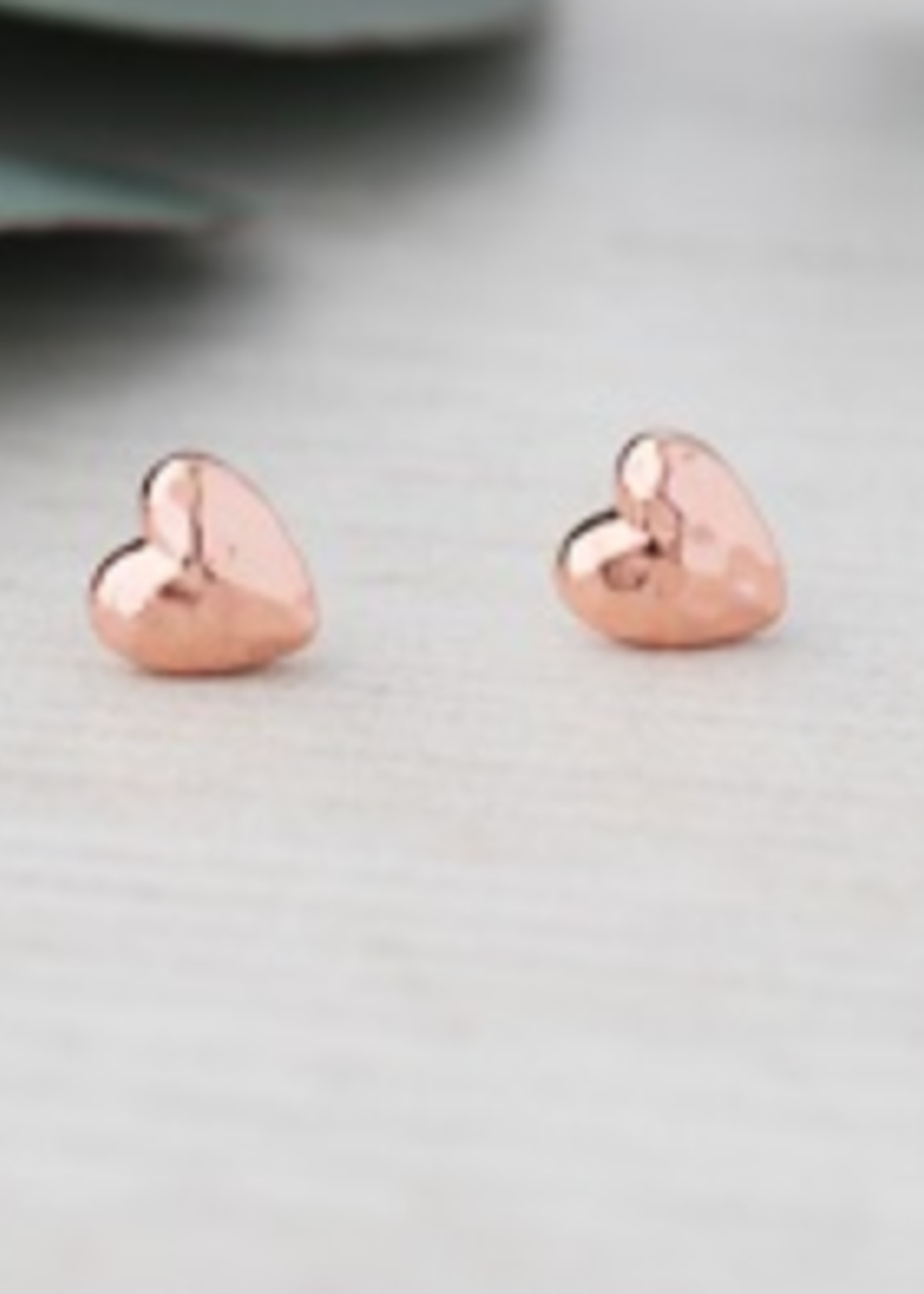 Glee Jewelry I Adore you Stud- Rose Gold