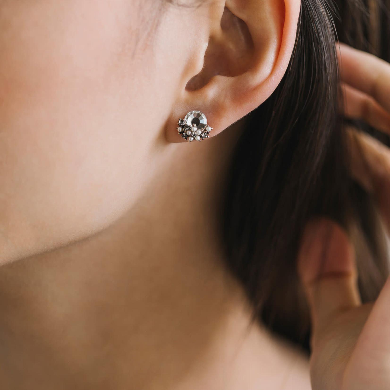 Sunrise Post Earrings- Grey