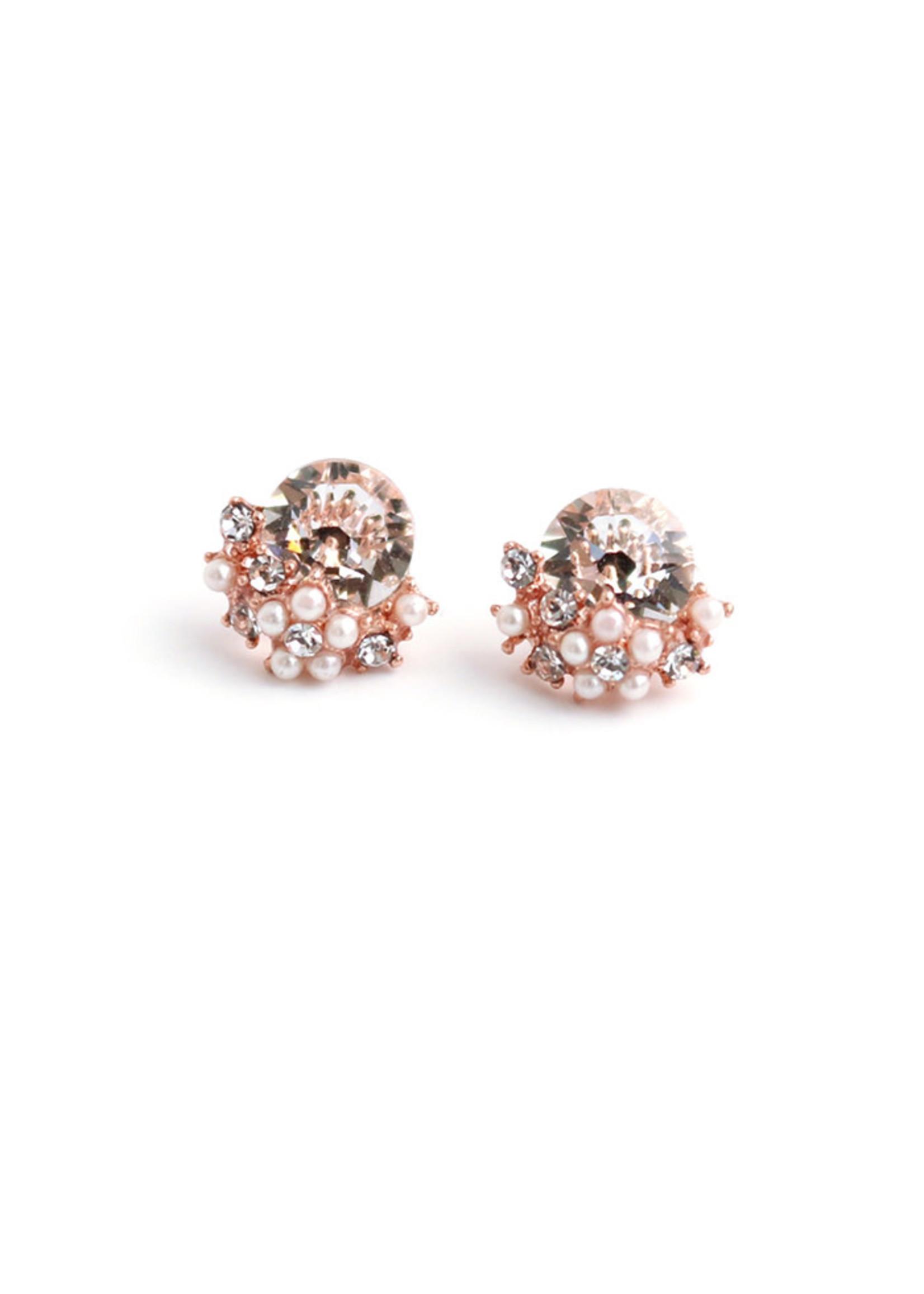 Sunrise Post Earrings-Pink