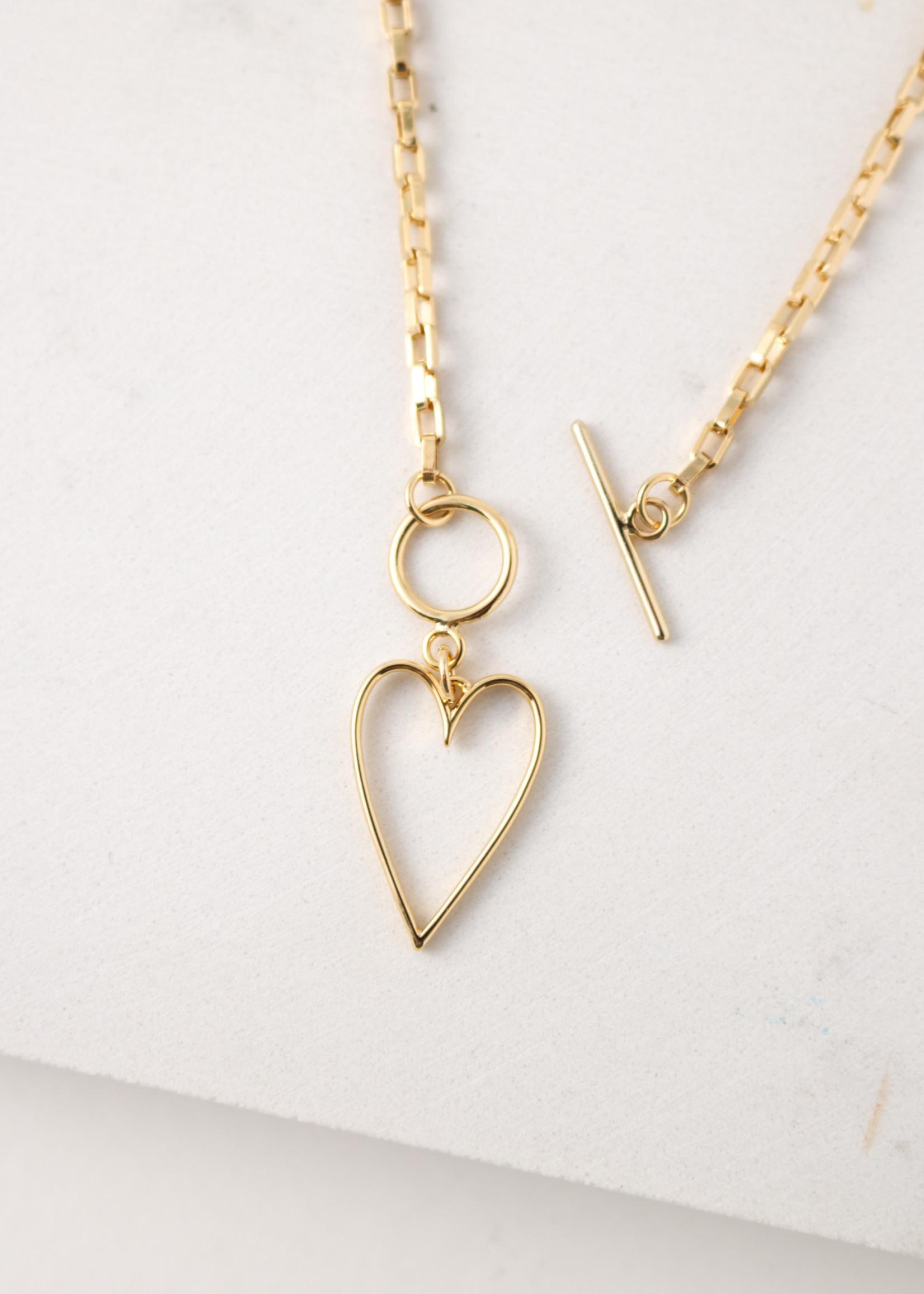 Lovestruck Heart Necklace Gold