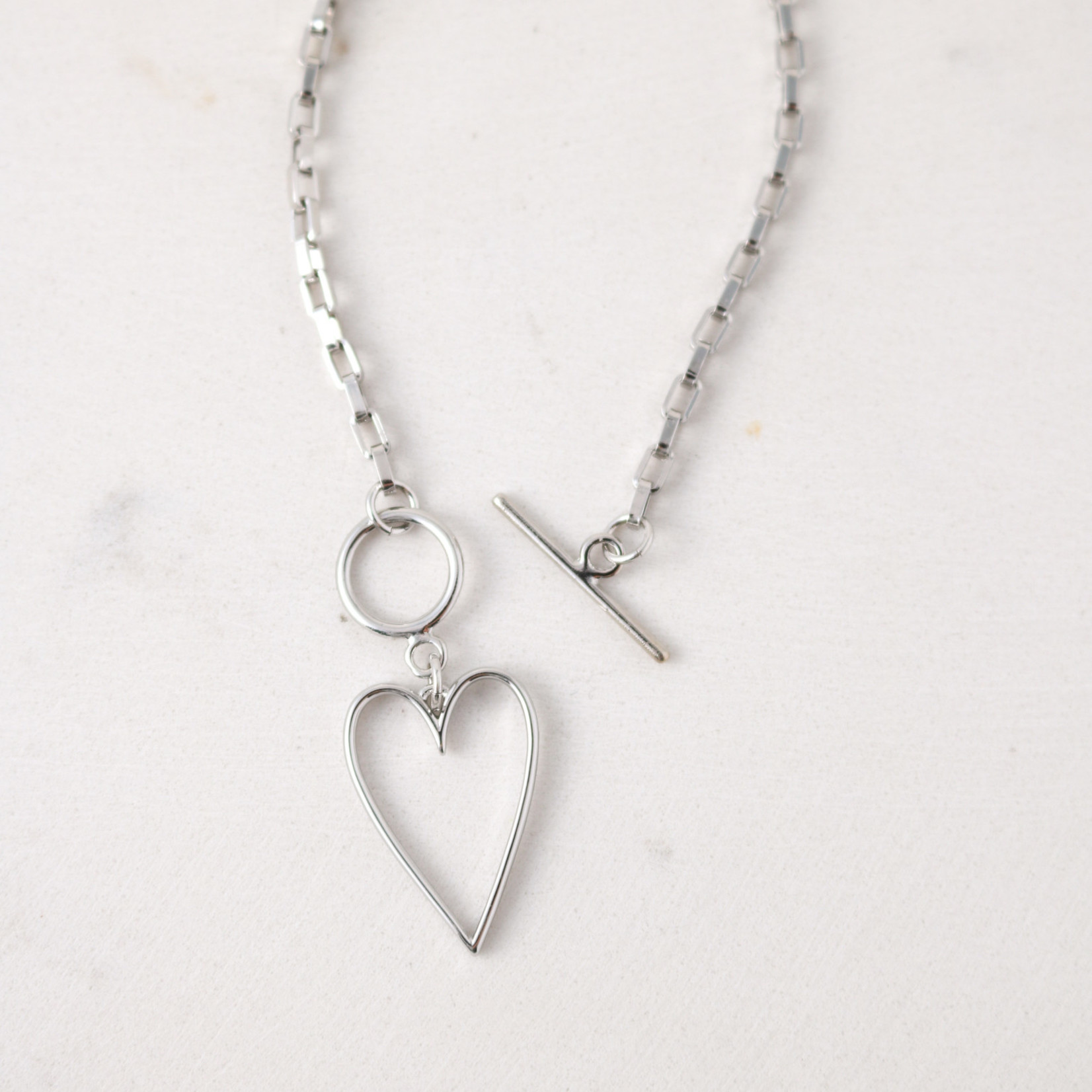 Lovestruck Heart Necklace Silver
