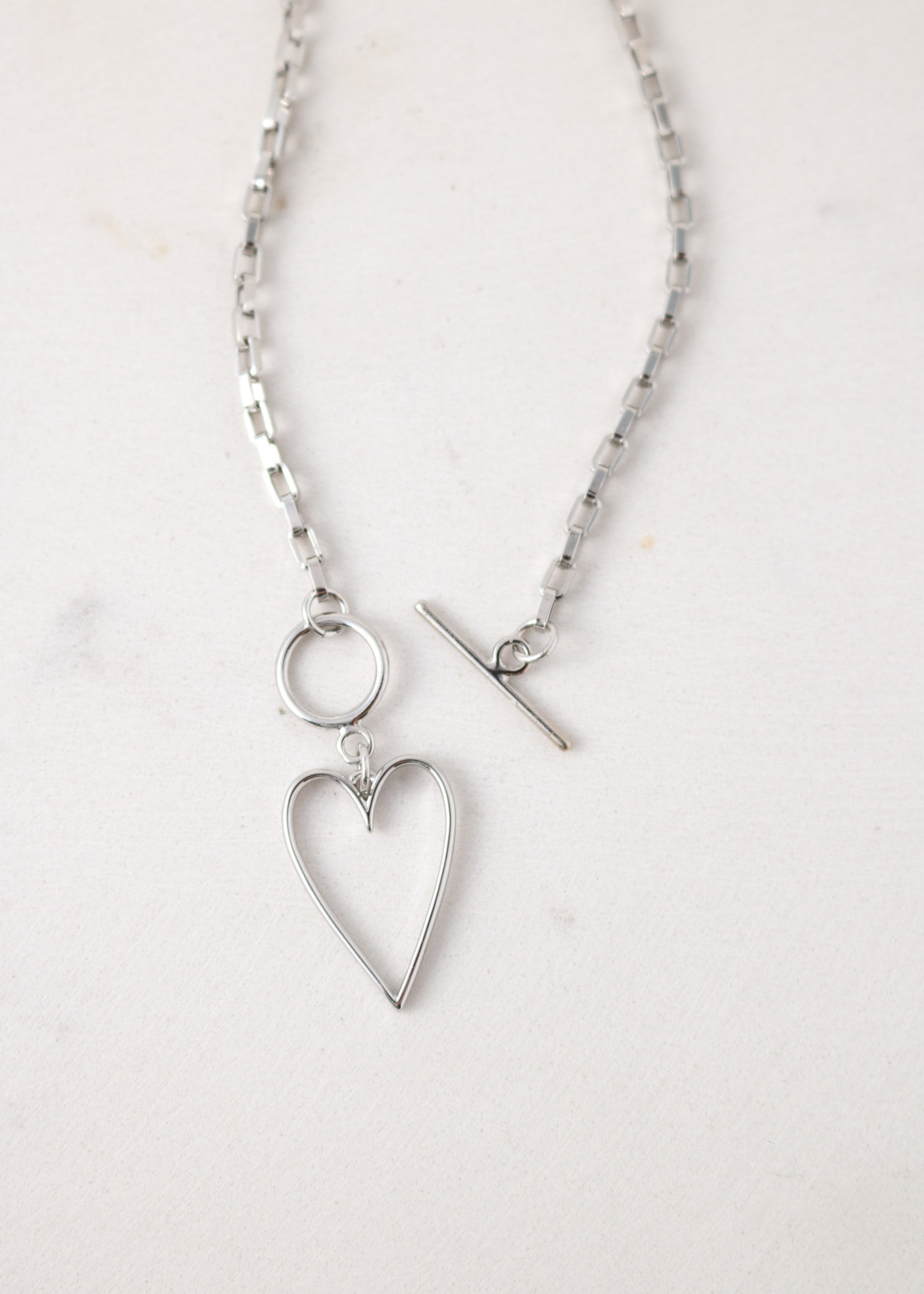 Lovestruck Heart Necklace Silver
