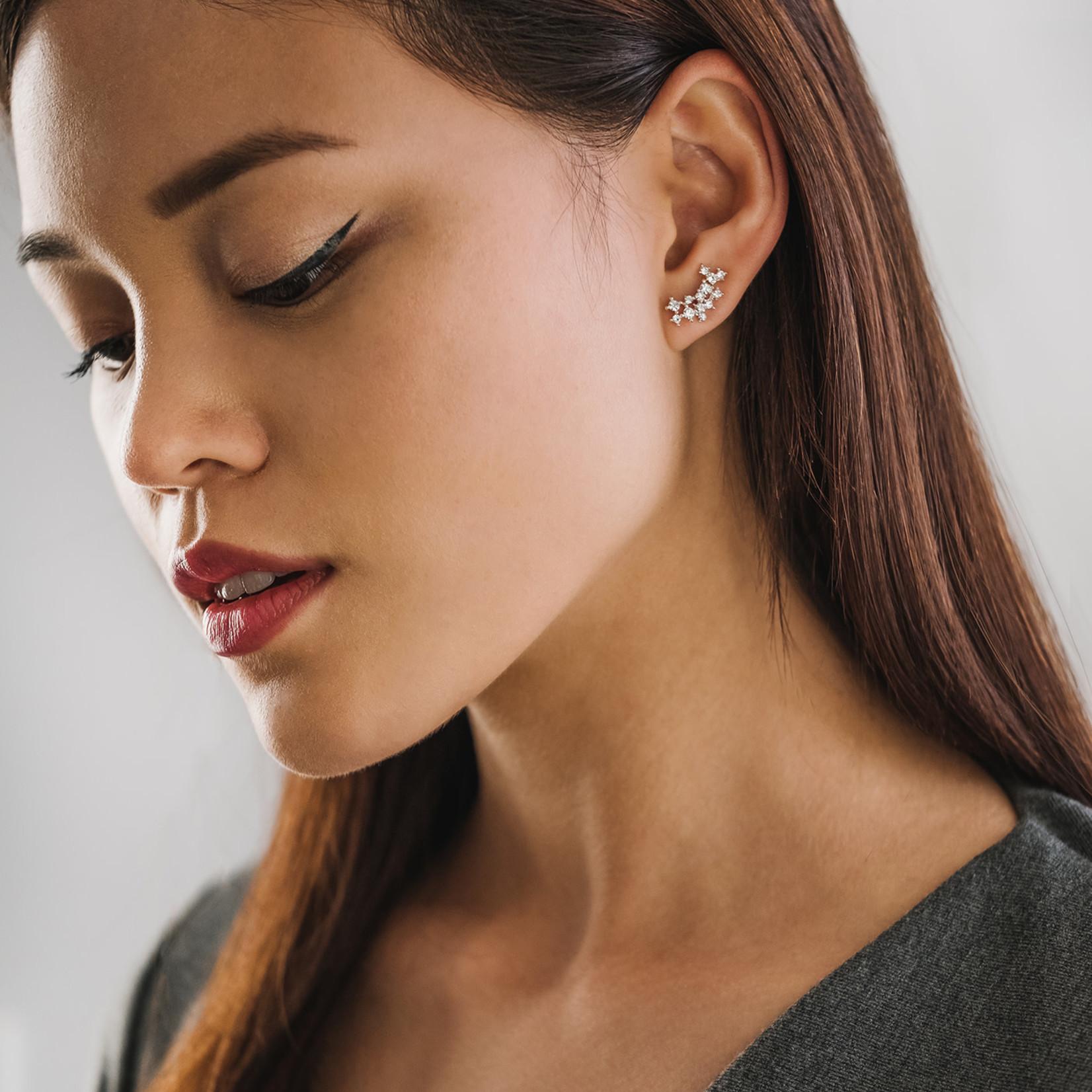 Stardust Earclimber Earring -Clear