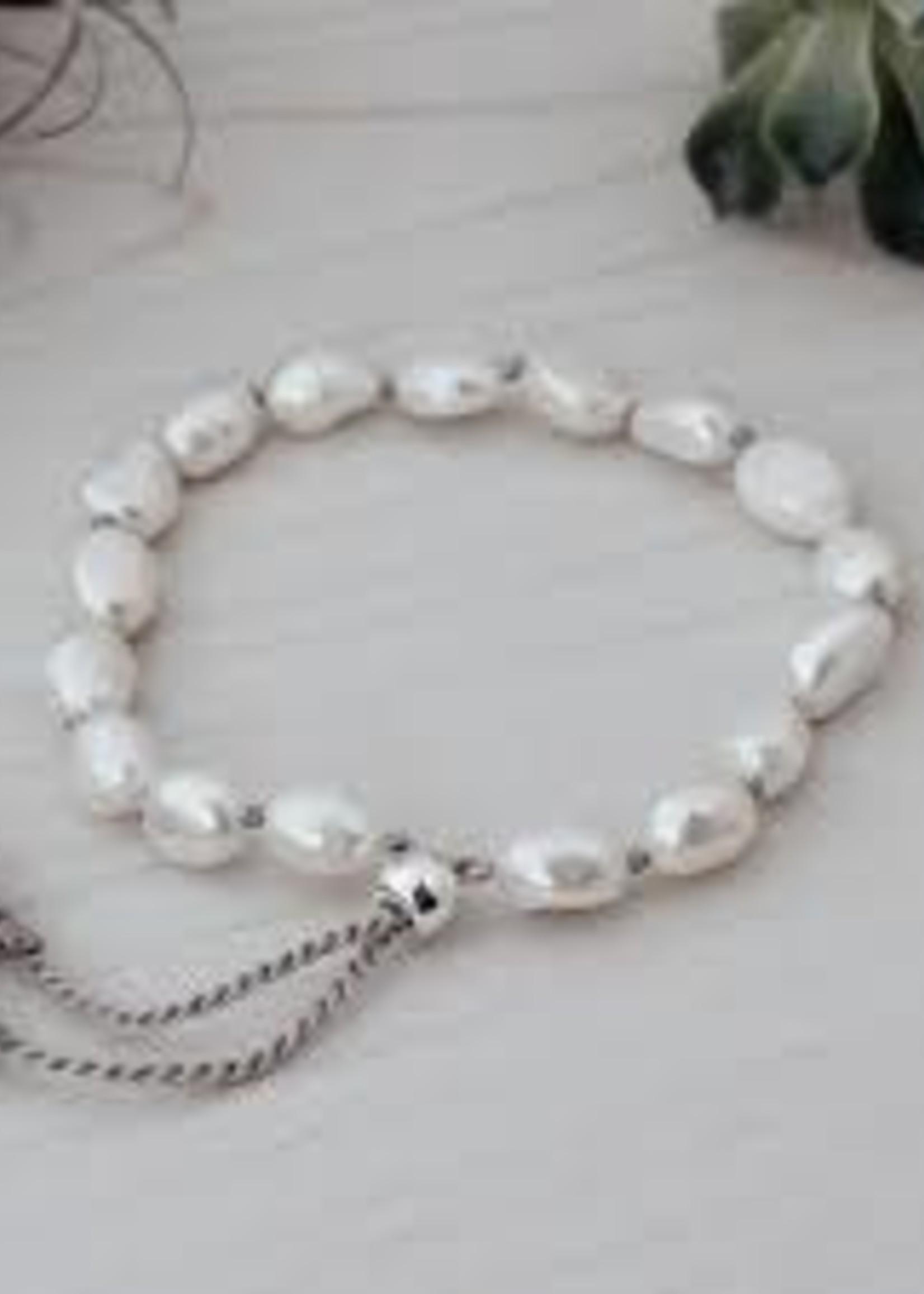 Humble Bracelet/ White Pearl