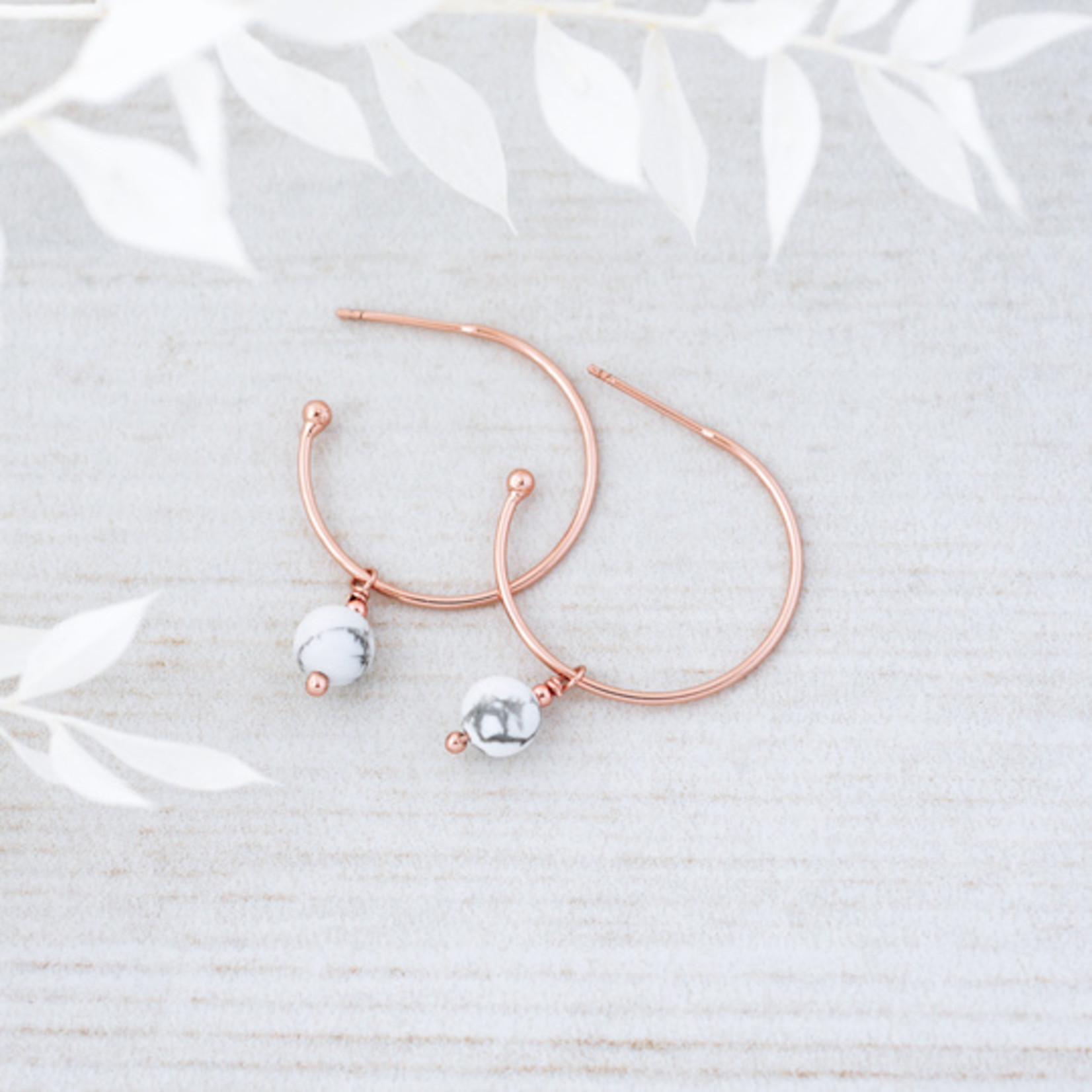 Passion Hoops Rose/Howlite