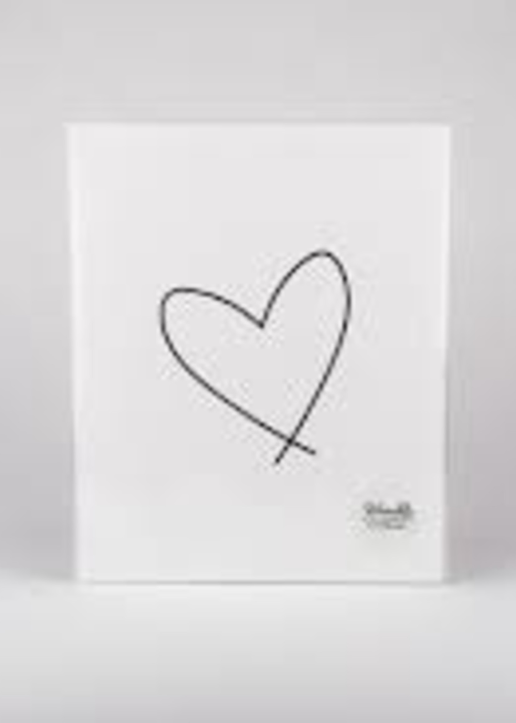 Wrinkle and Crease Lewiston Heart Poster