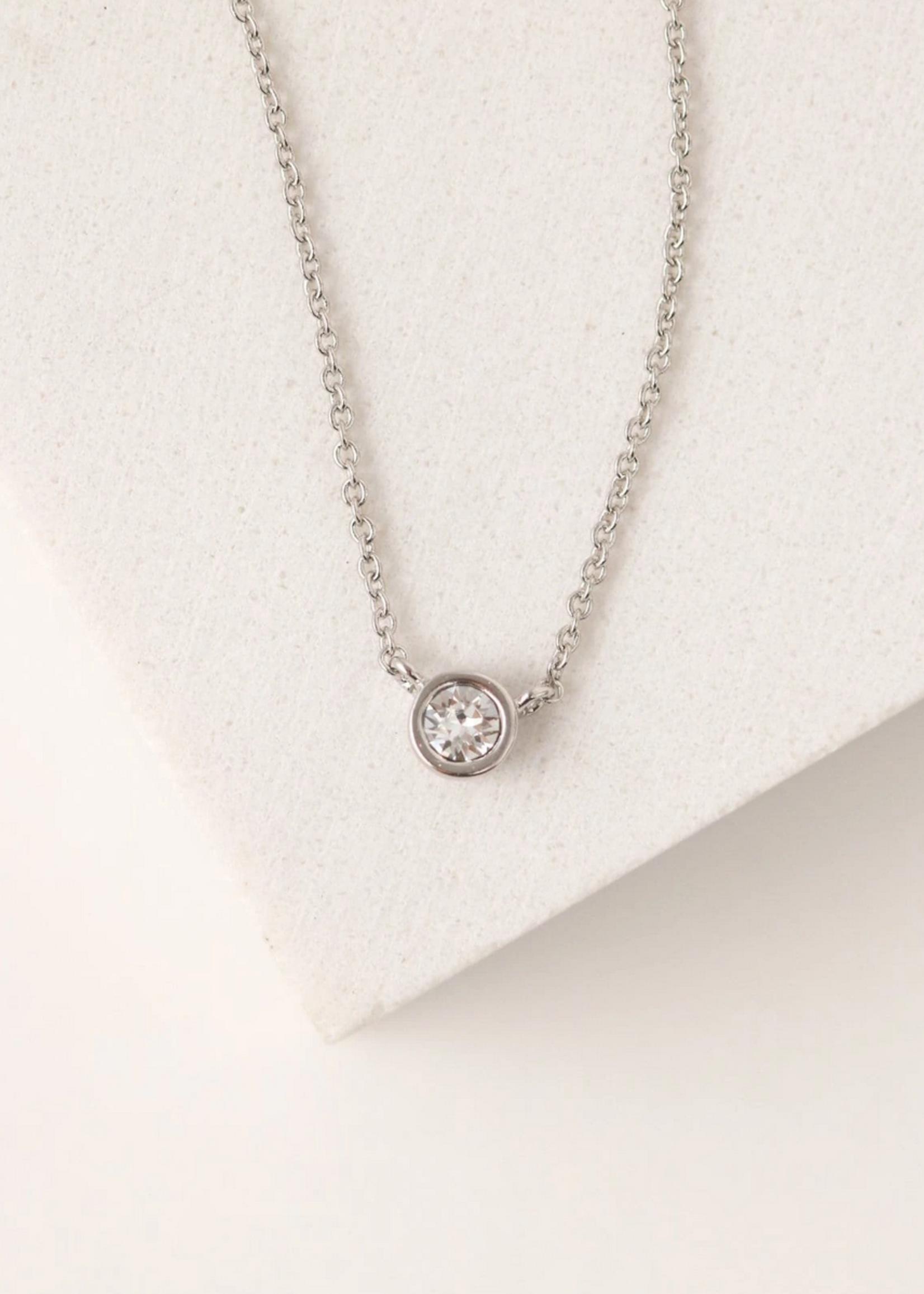 April kaleidoscope Birthstone Necklace-Silver