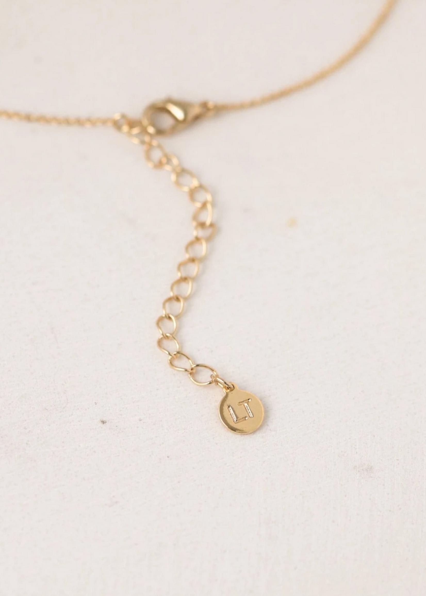 August Kaleidoscope Birthstone Necklace-Gold