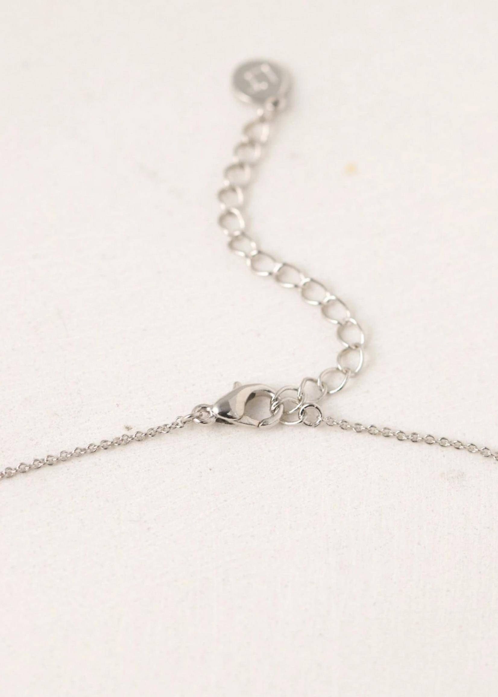 August Kaleidoscope Birthstone Necklace-Silver