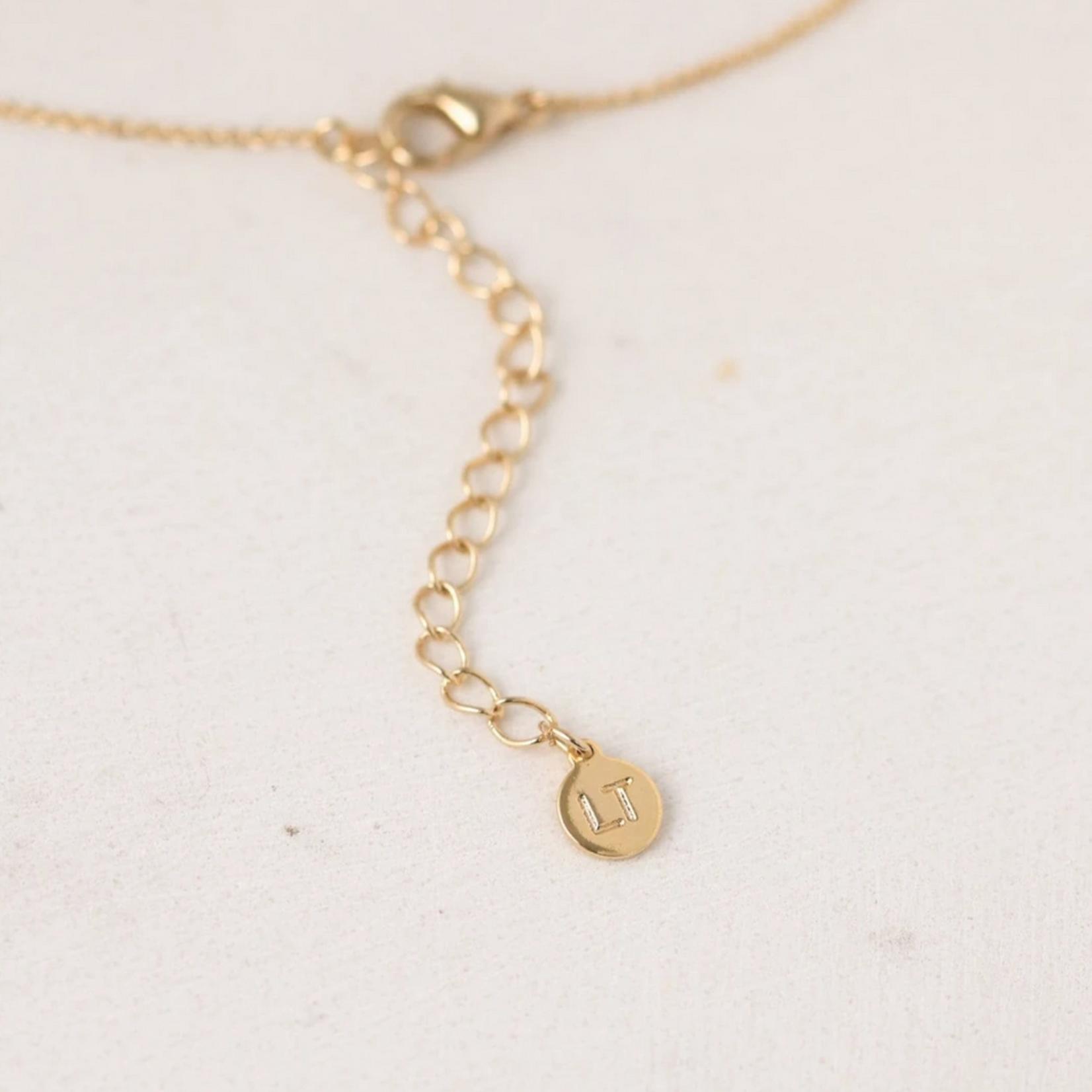December Kaleidoscope Birthstone Necklace-Gold