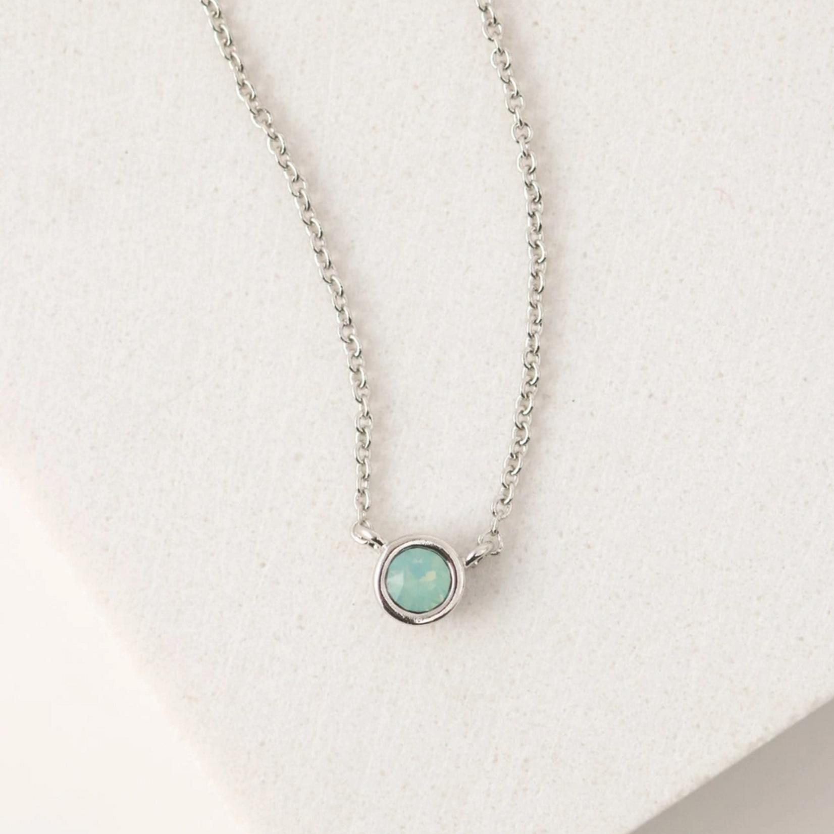 December Kaleidoscope Birthstone Necklace-Silver