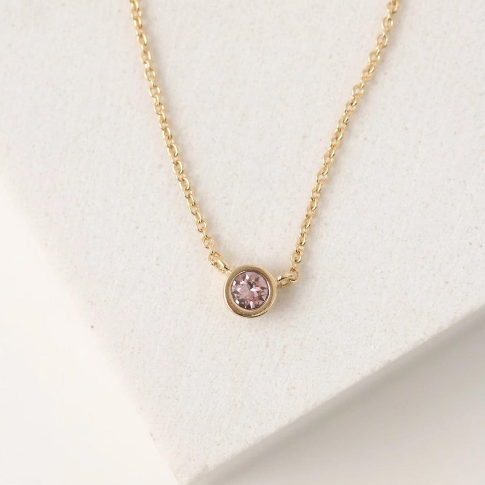 February Kaleidoscope Birthstone Necklace-Gold