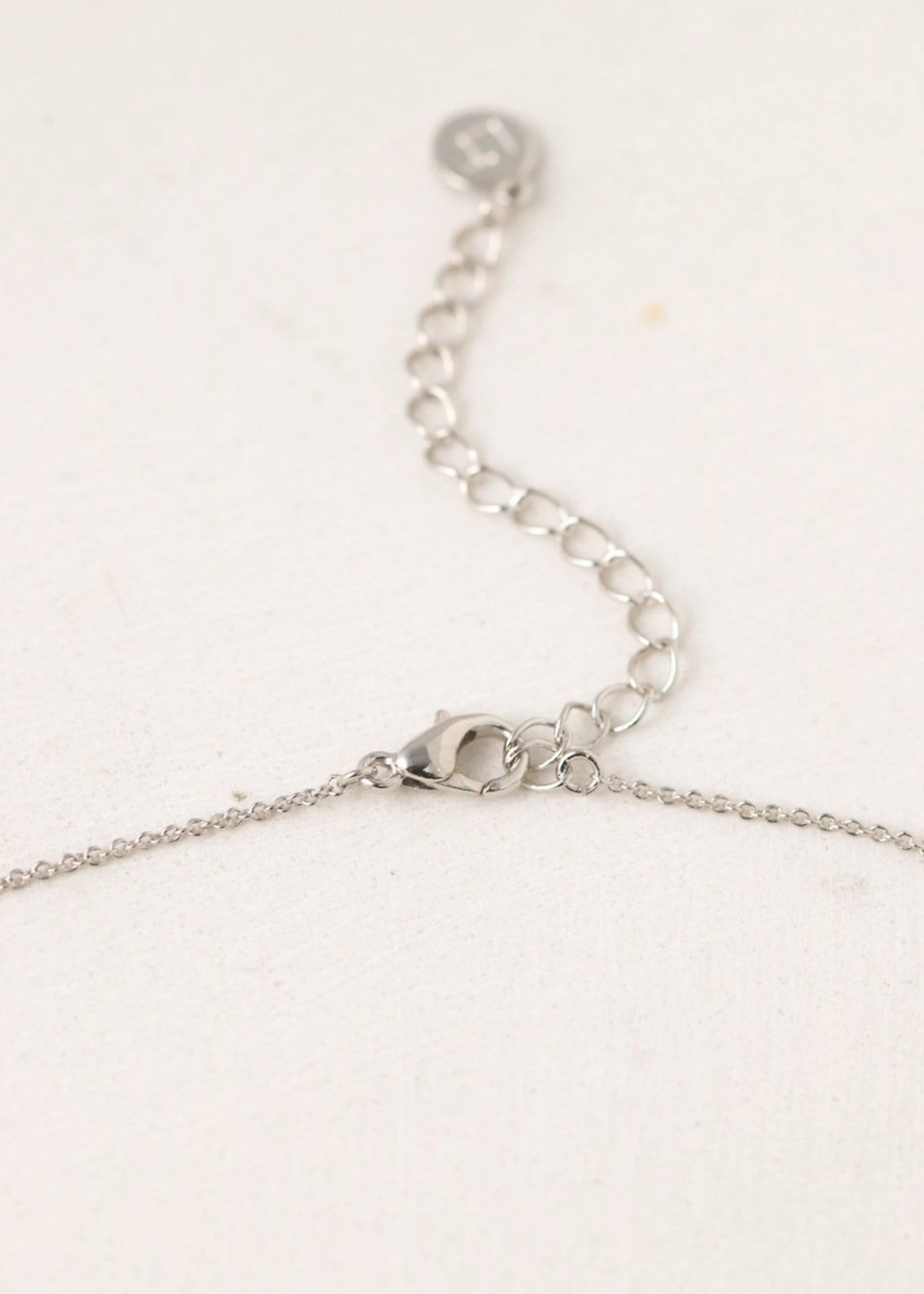 February Kaleidoscope Birthstone Necklace-Silver
