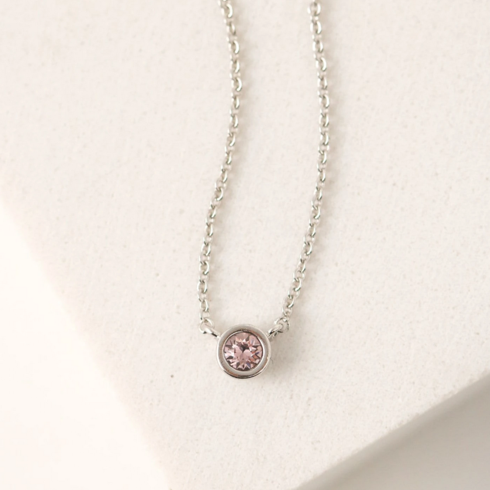 February Kaleidoscope Birthstone Necklace-Silver