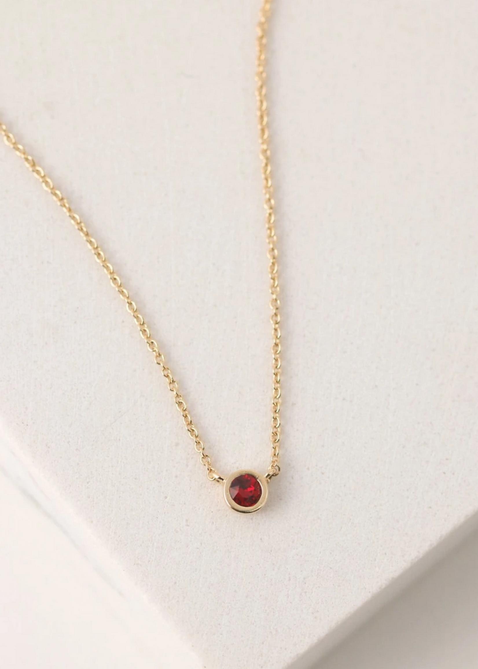 January Kaleidoscope Birthstone Necklace-Gold