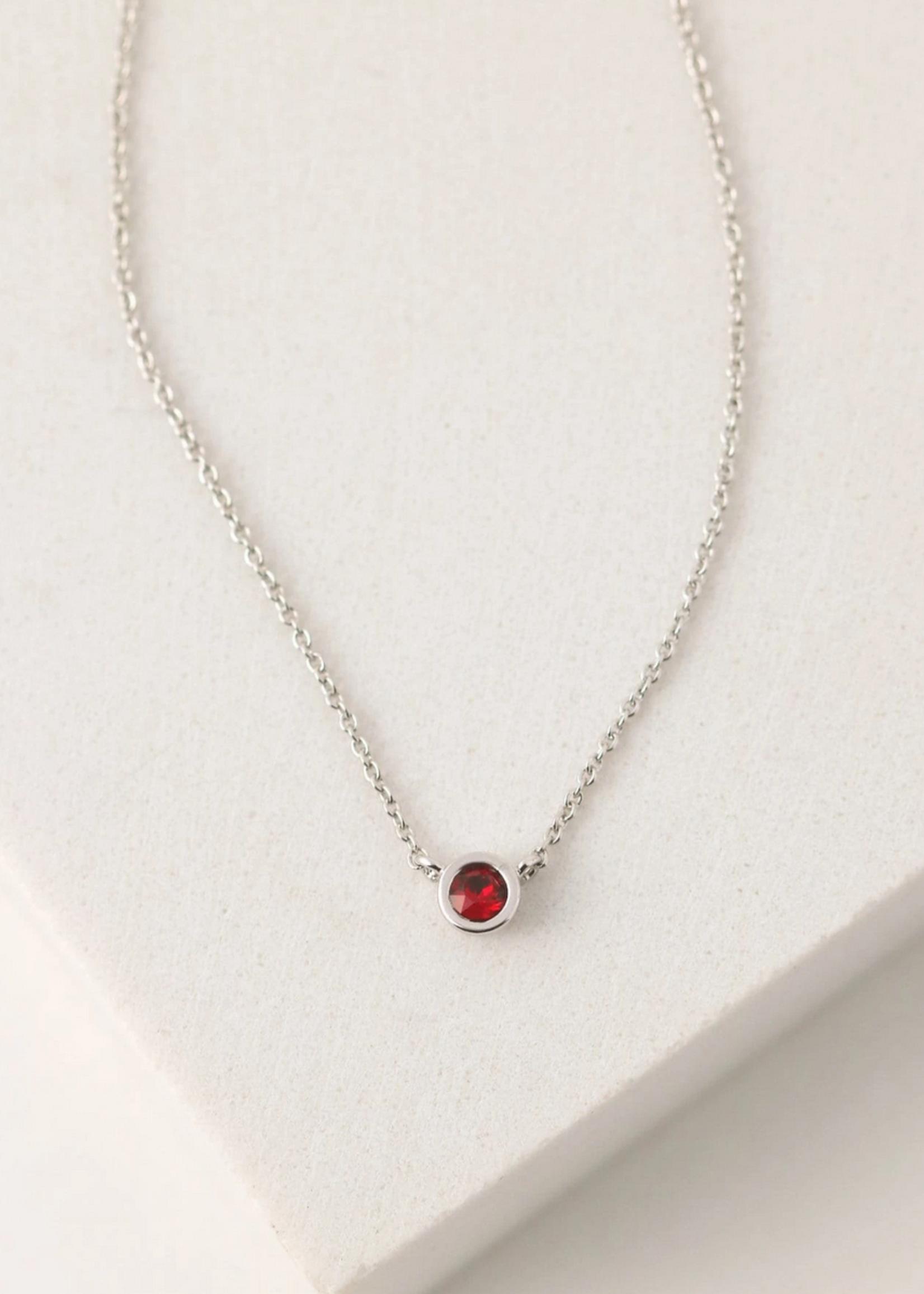 January Kaleidoscope Birthstone Necklace-Silver