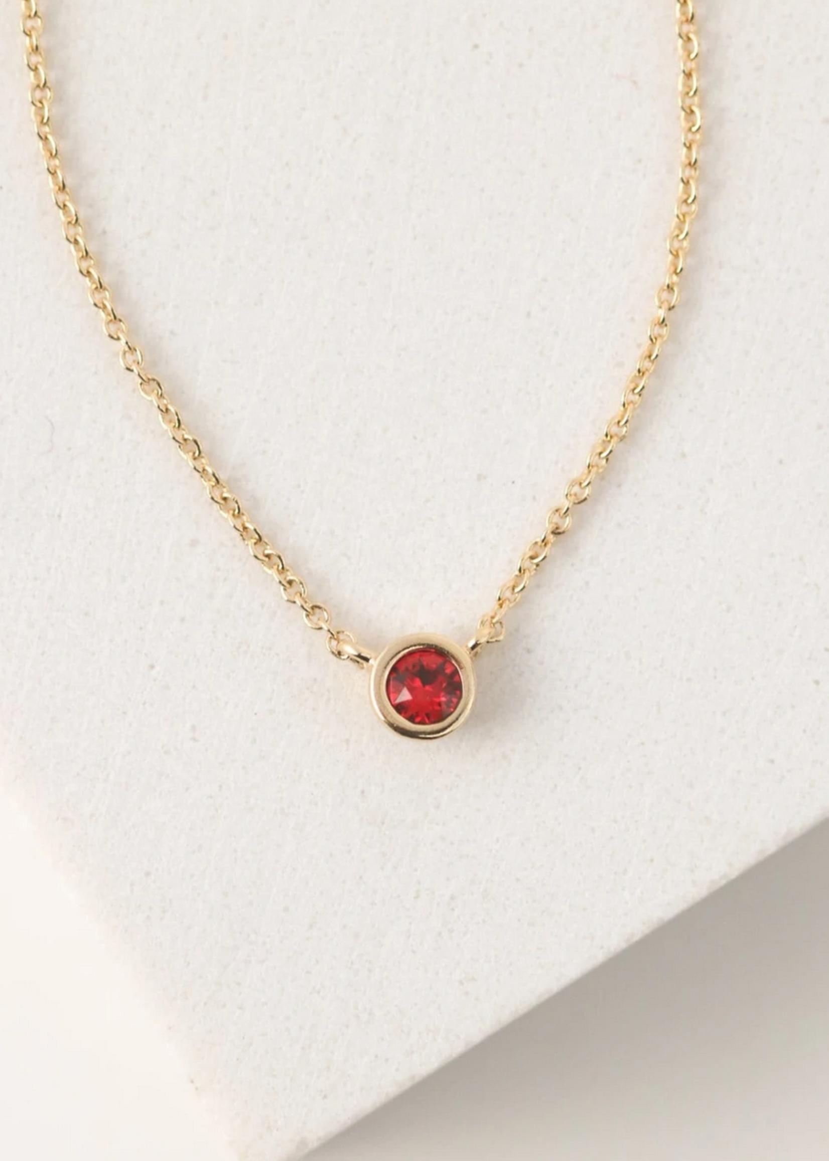 July Kaleidoscope Birthstone Necklace-Gold
