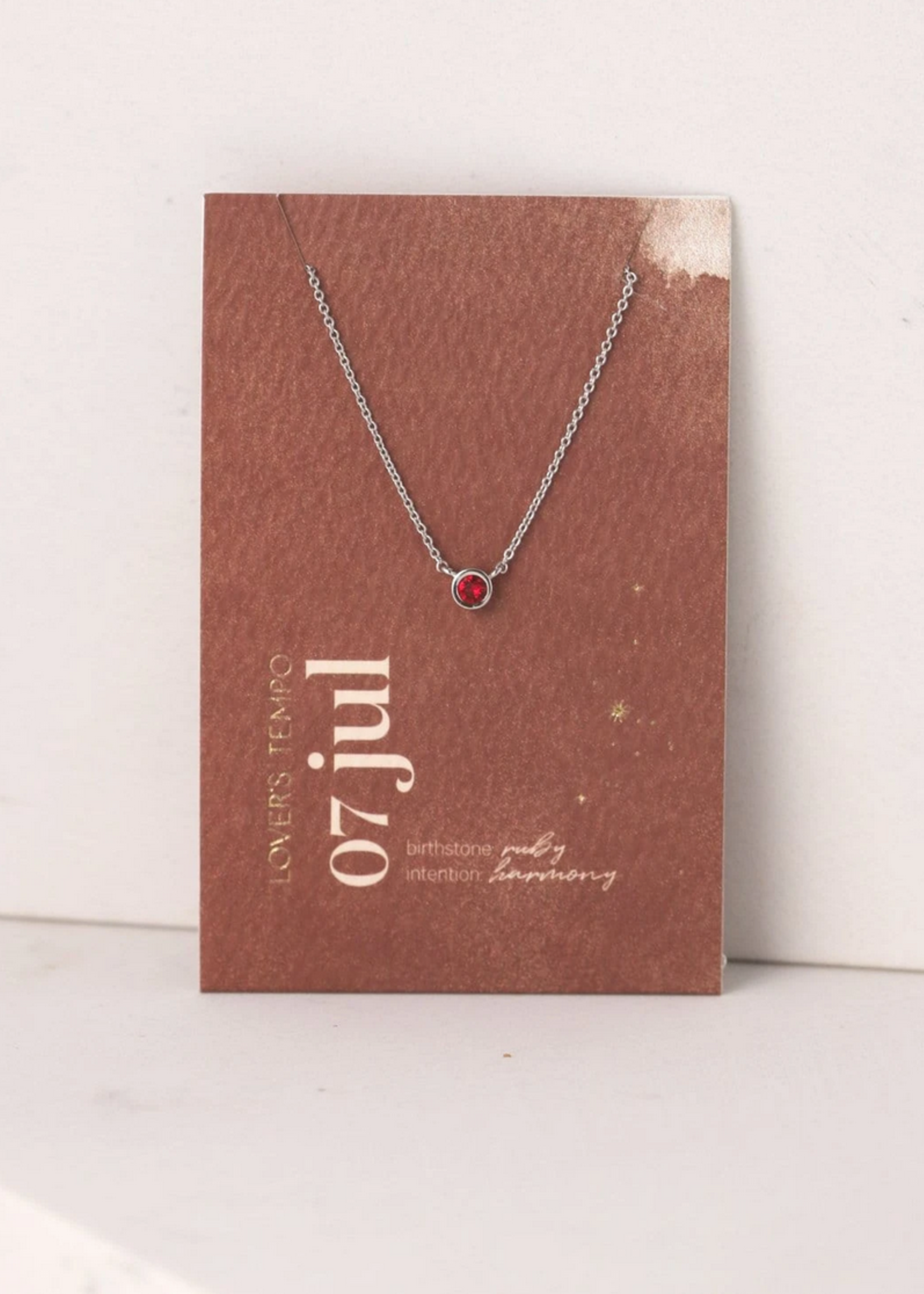 July Kaleidoscope Birthstone Necklace-Silver