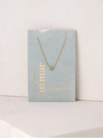 March Kaleidoscope Birthstone Necklace-Gold