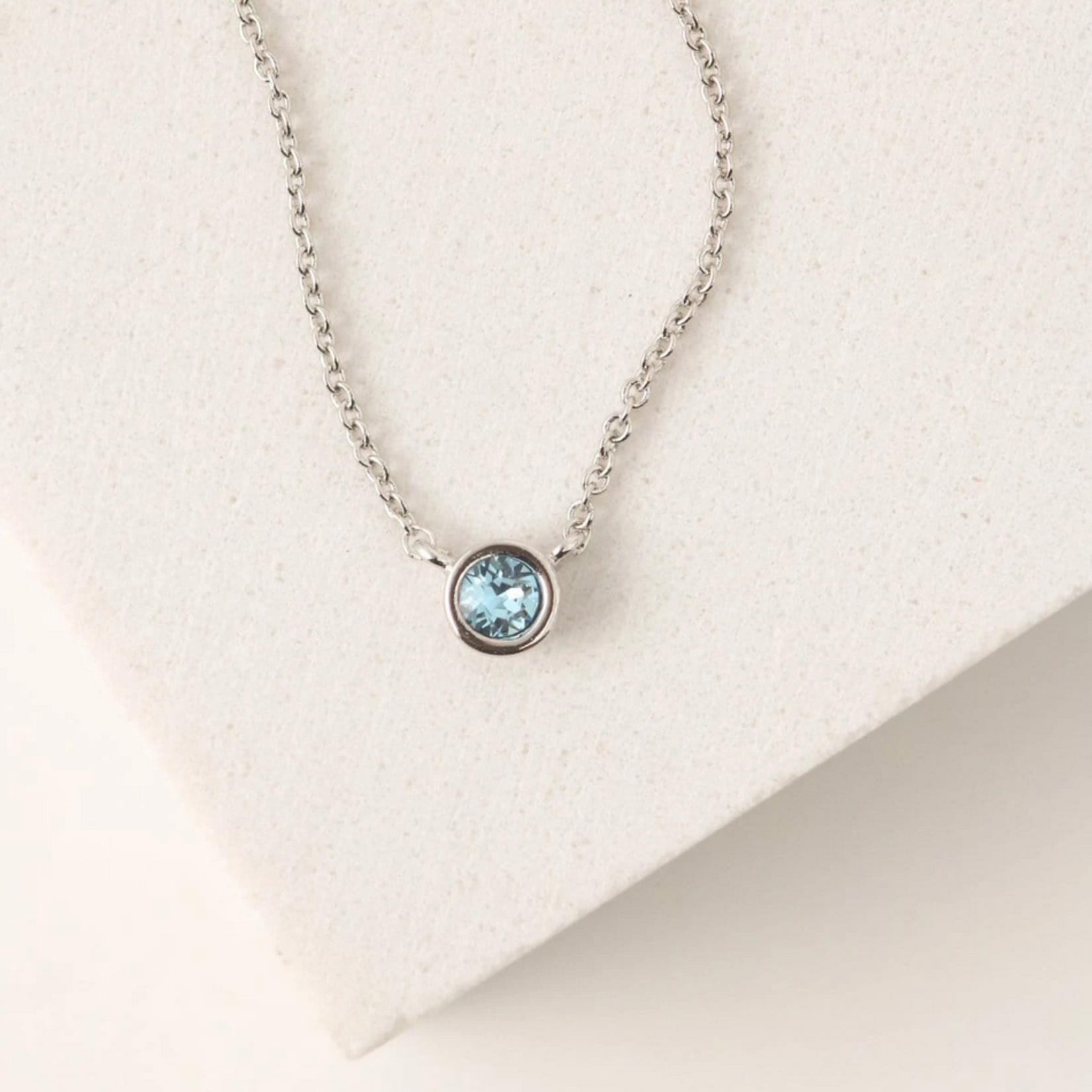 March Kaleidoscope Birthstone Necklace-Silver