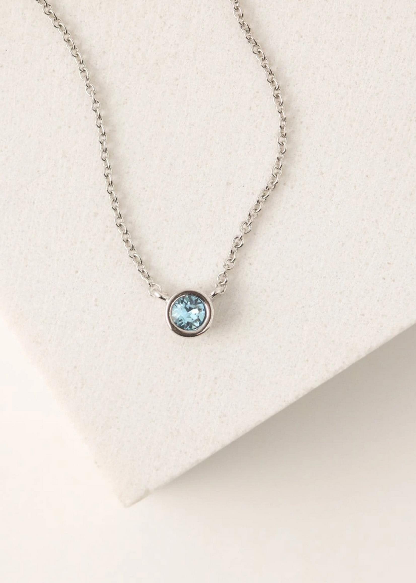 March Kaleidoscope Birthstone Necklace-Silver
