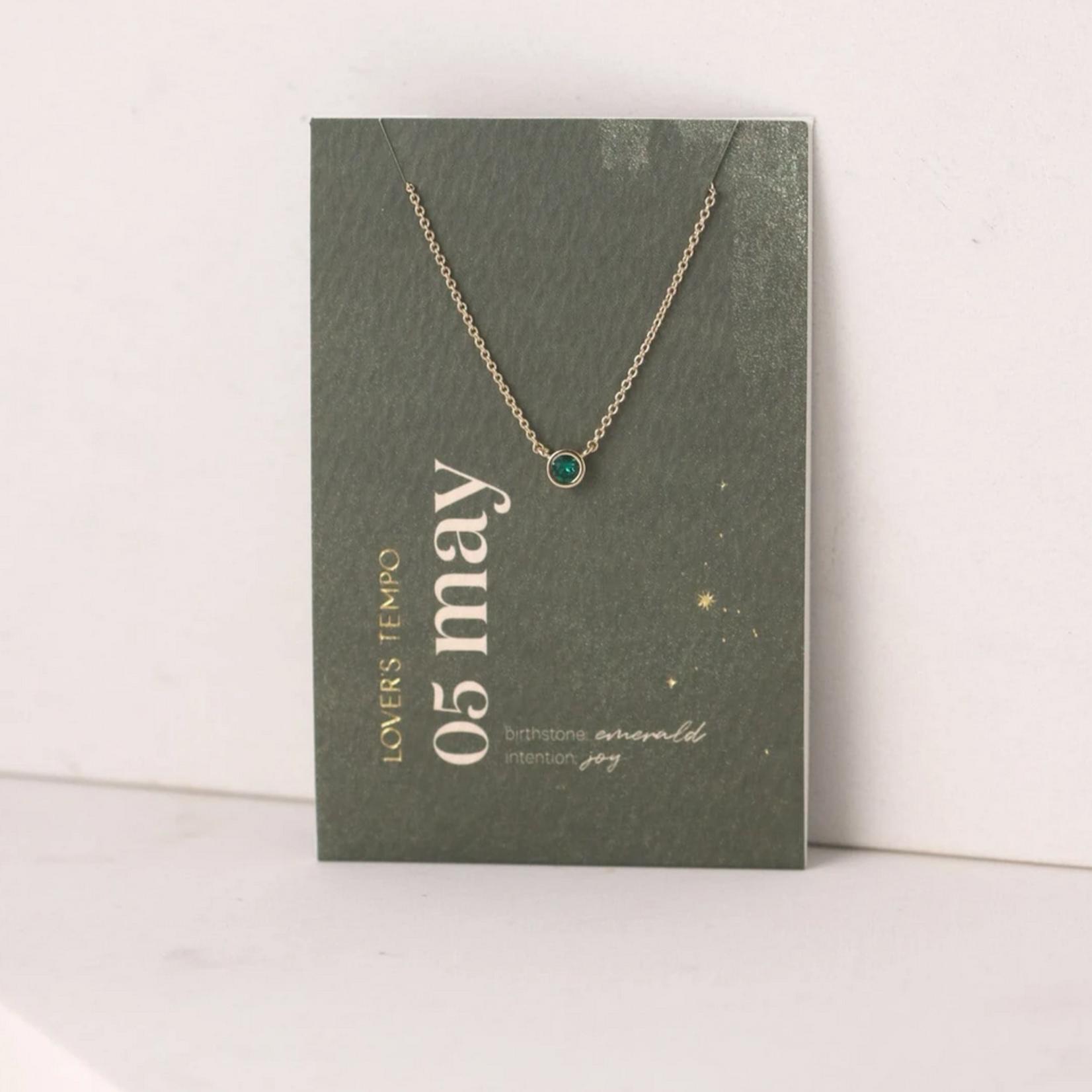 May Kaleidoscope Birthstone Necklace-Gold