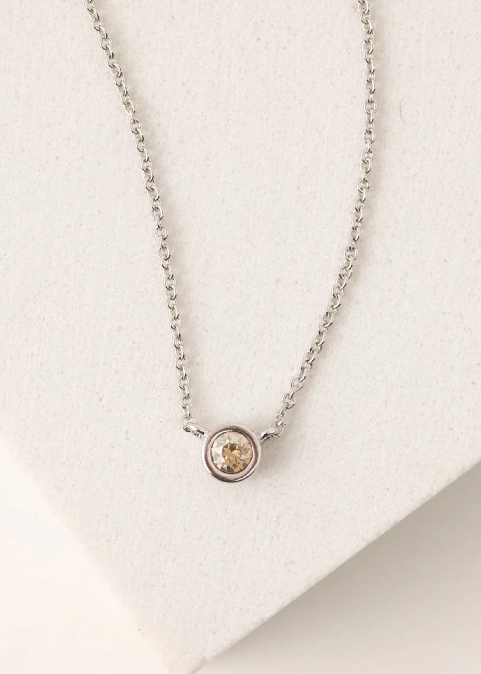 November Kaleidoscope Birthstone Necklace -Silver
