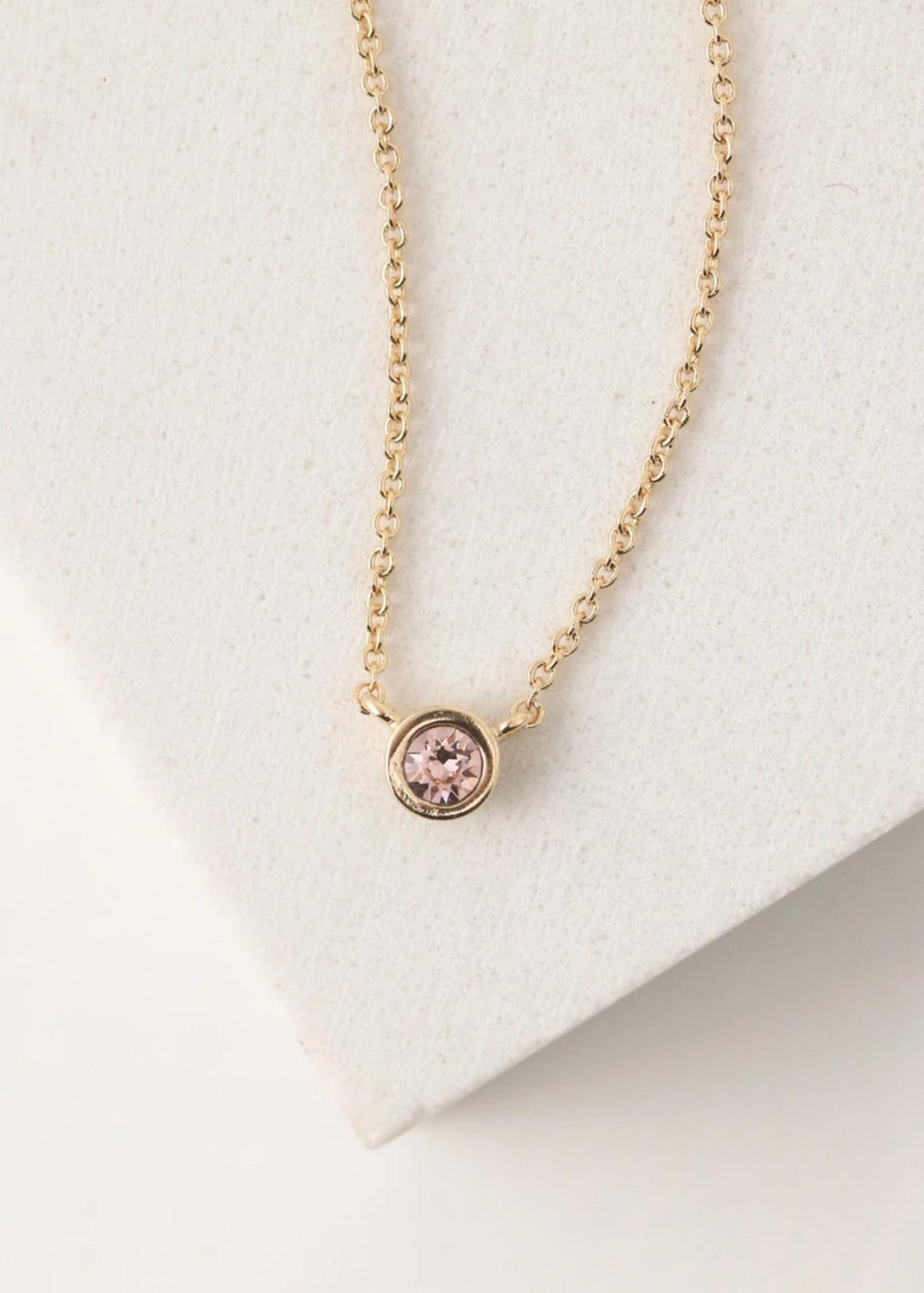October Kaleidoscope Birthstone Necklace-Gold