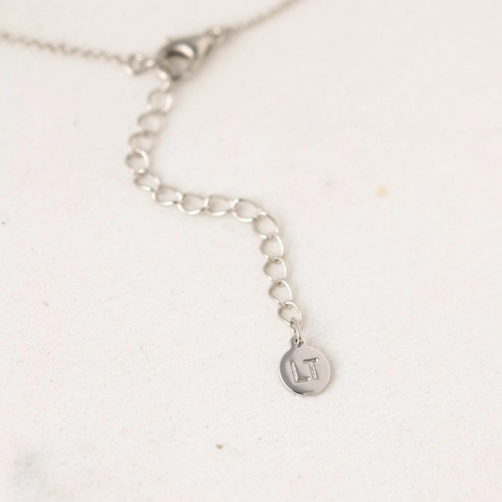 October Kaleidoscope Birthstone Necklace-silver