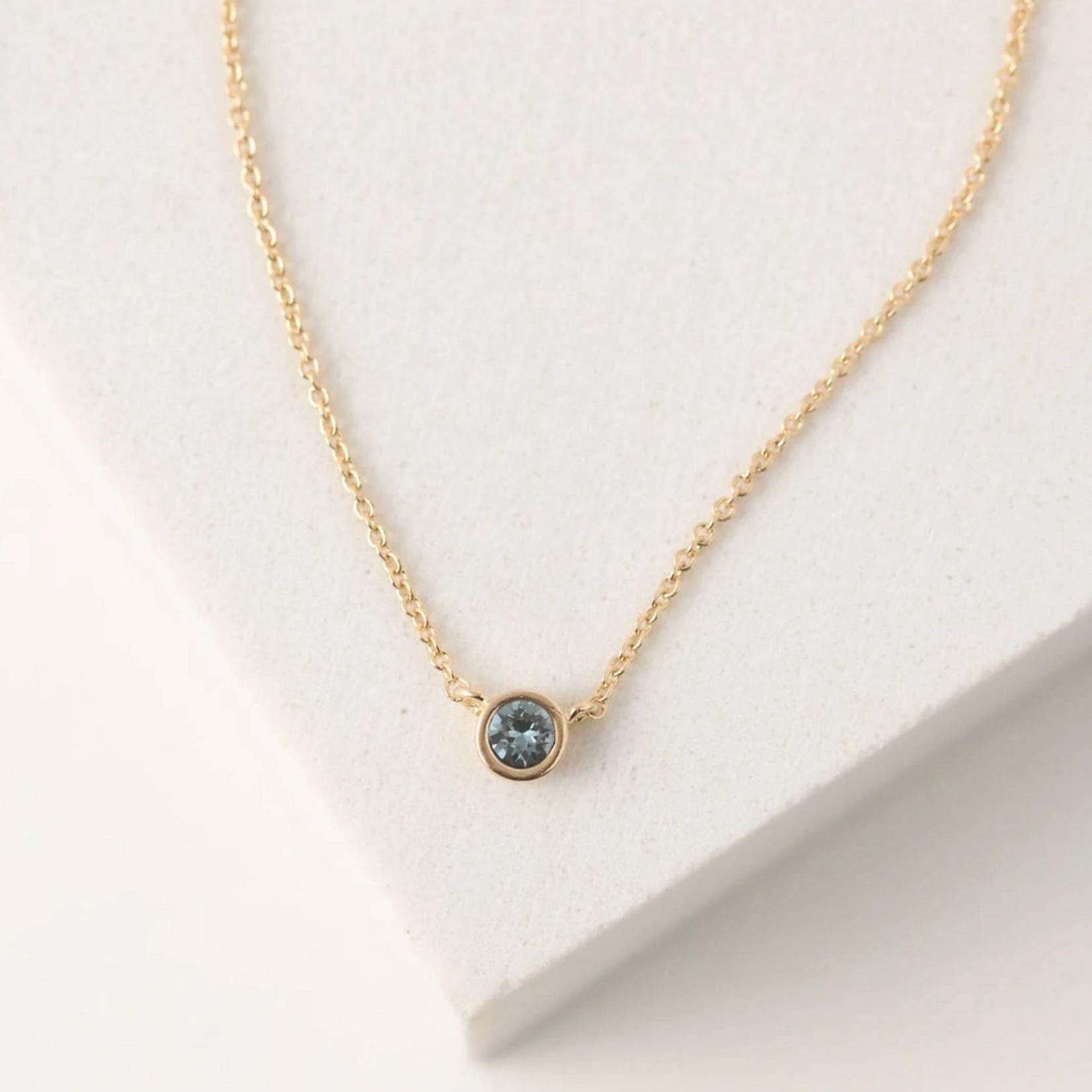 September Kaleidoscope Birthstone Necklace-Gold