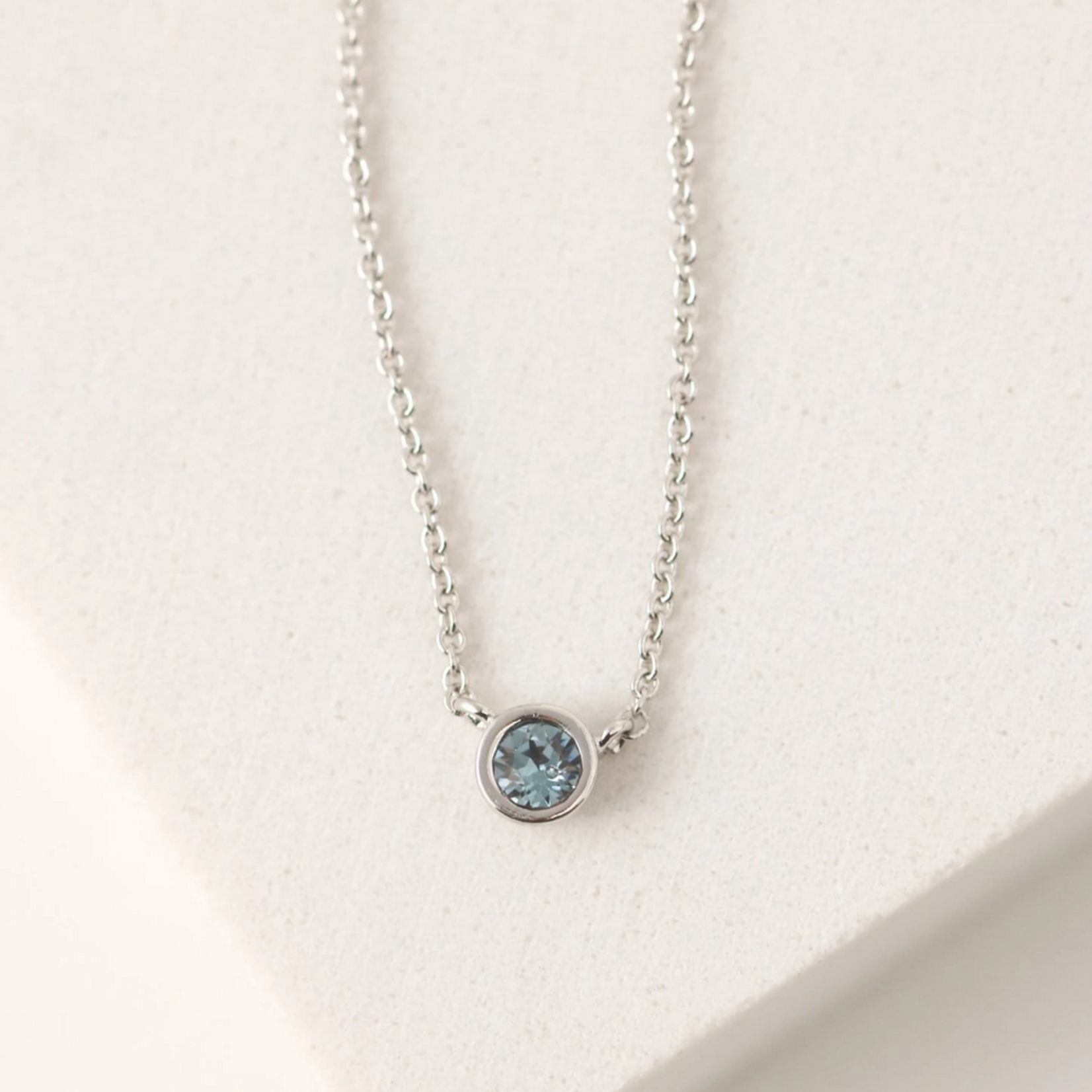 September Kaleidoscope Birthstone Necklace-Silver