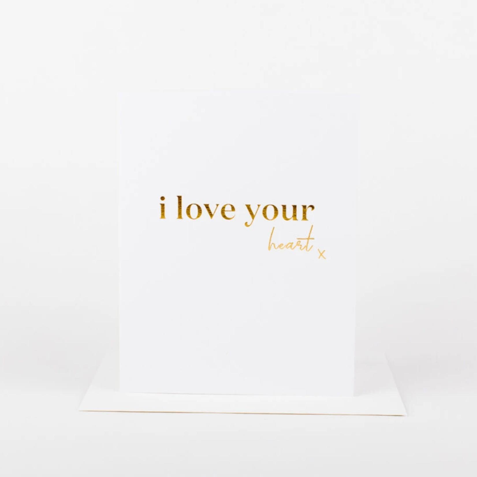 i love your heart x card