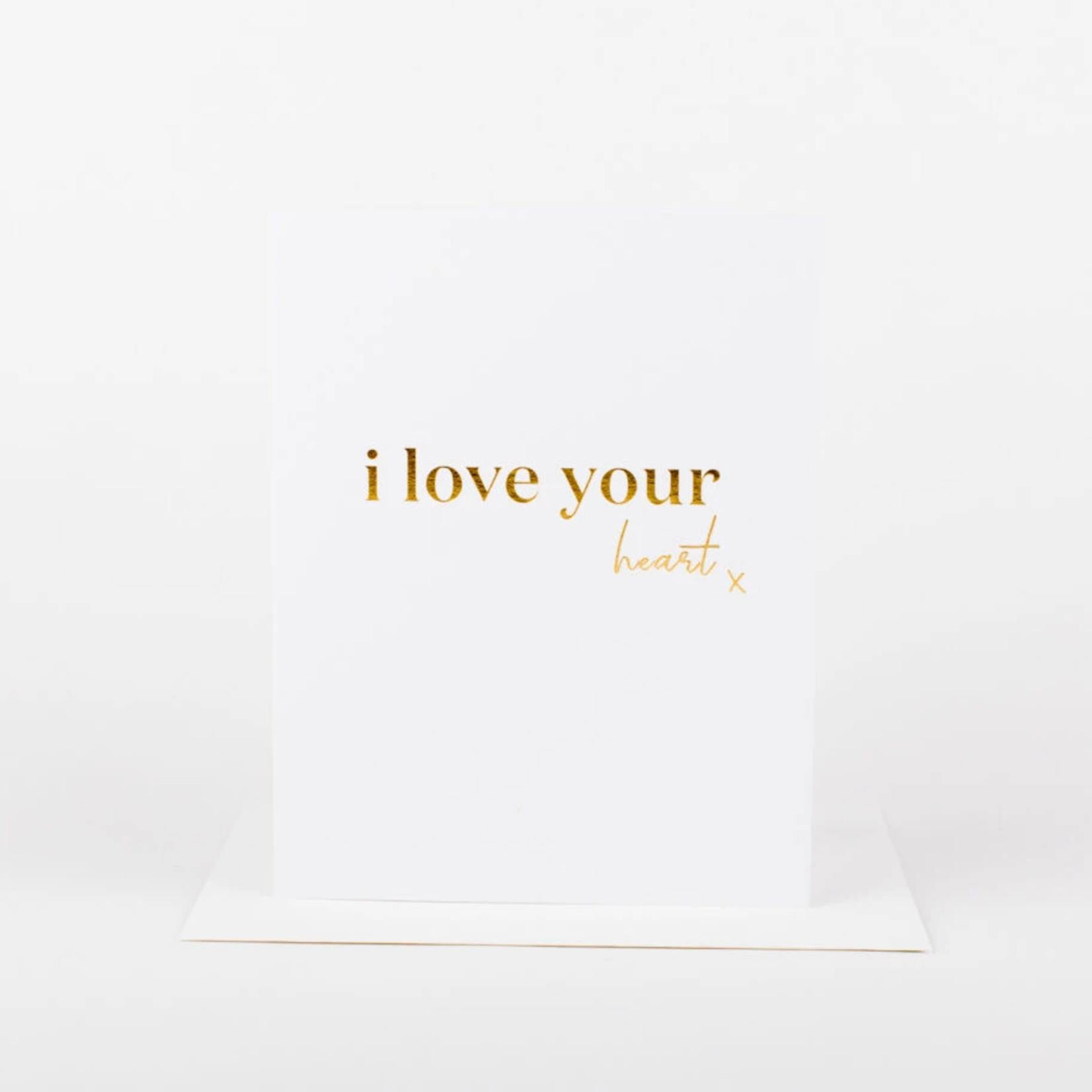 Wrinkle and Crease i love your heart x card