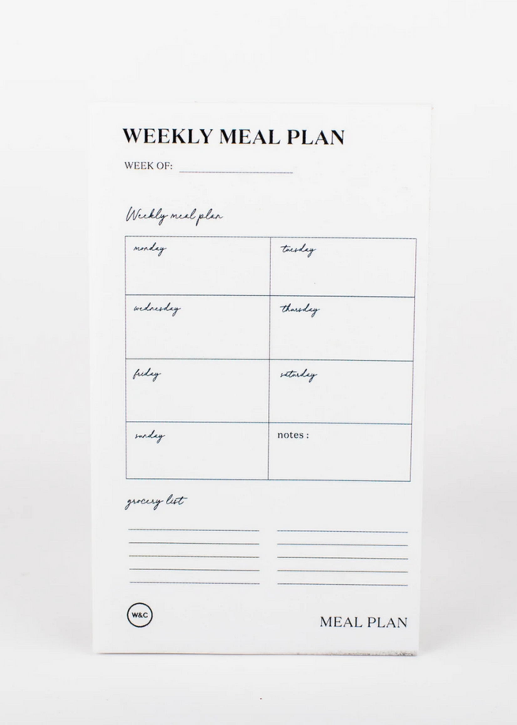 Wrinkle and Crease Weekly Meal Plan