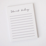 Wrinkle and Crease Start Today Notebook
