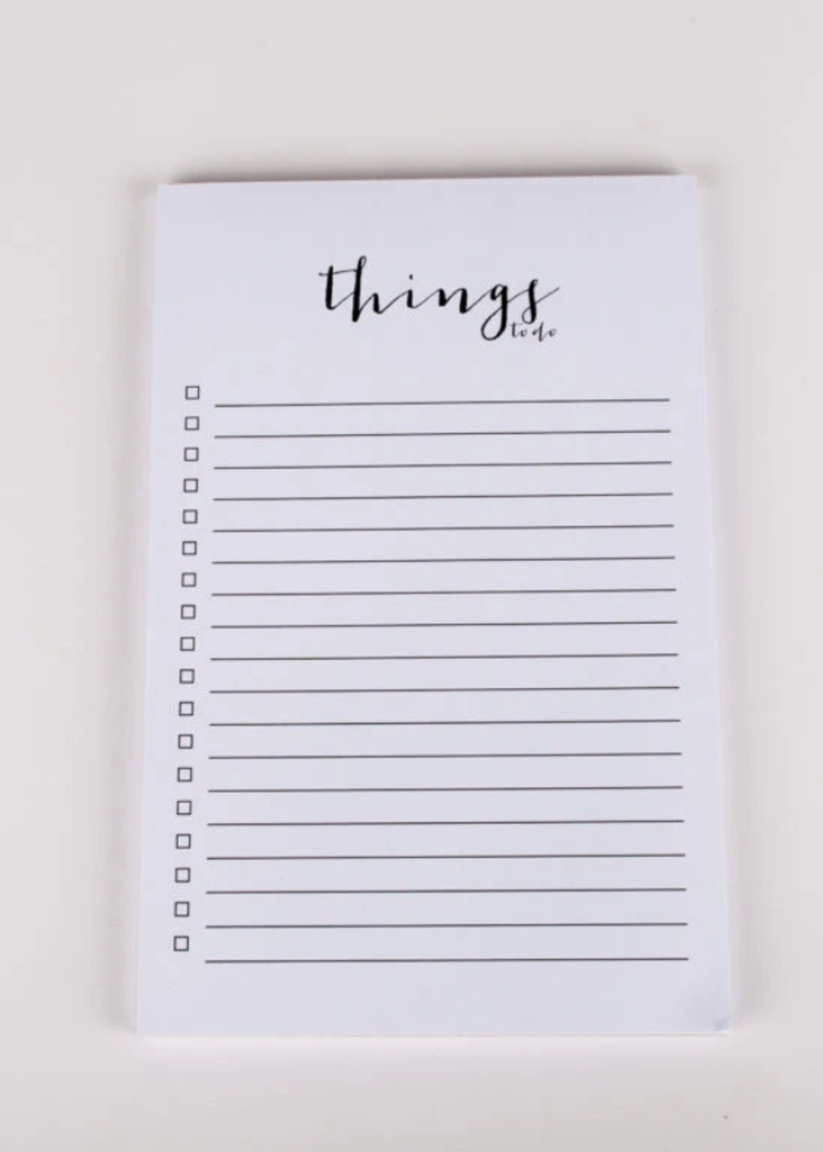 Wrinkle and Crease Things to Do Notepad