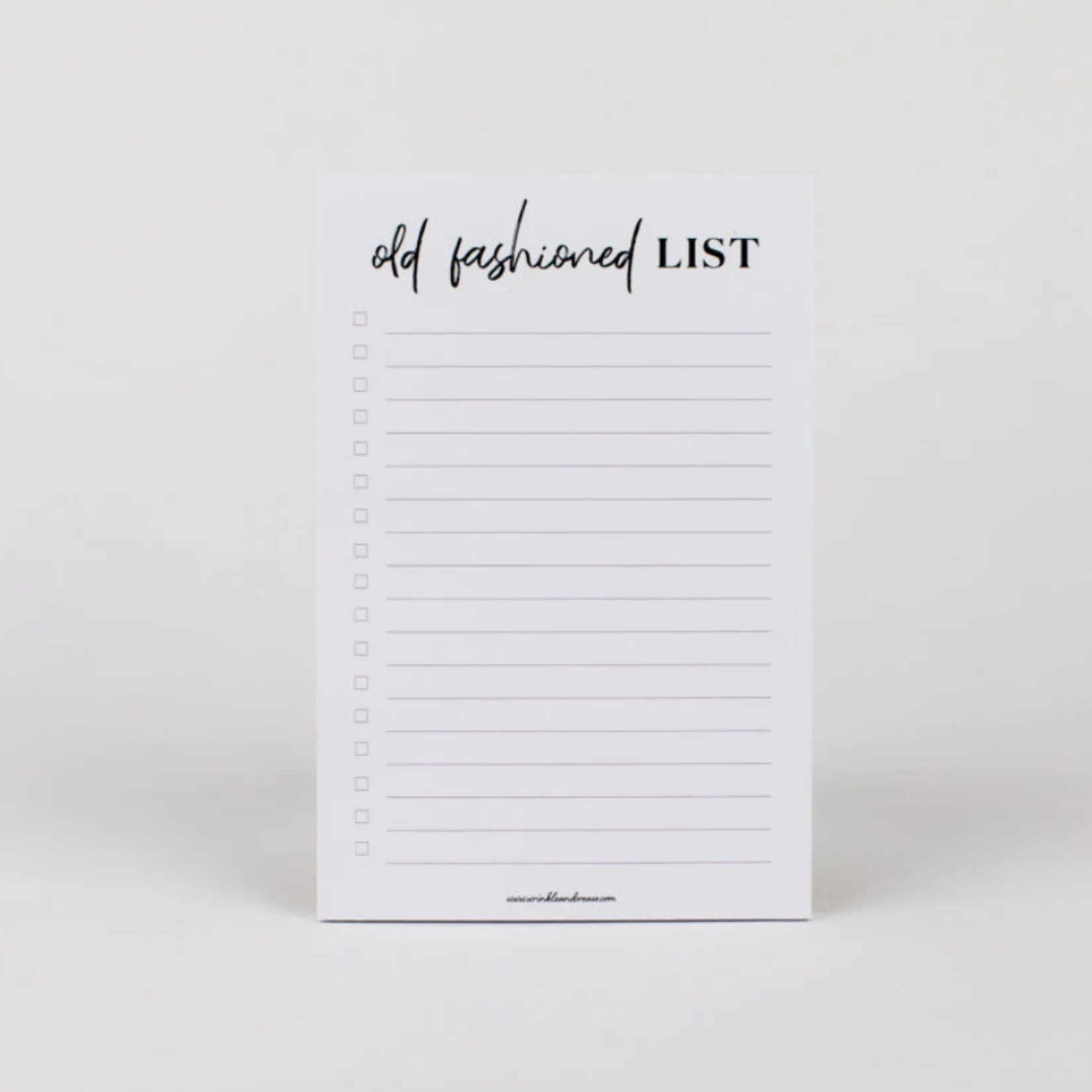 Old Fashioned List