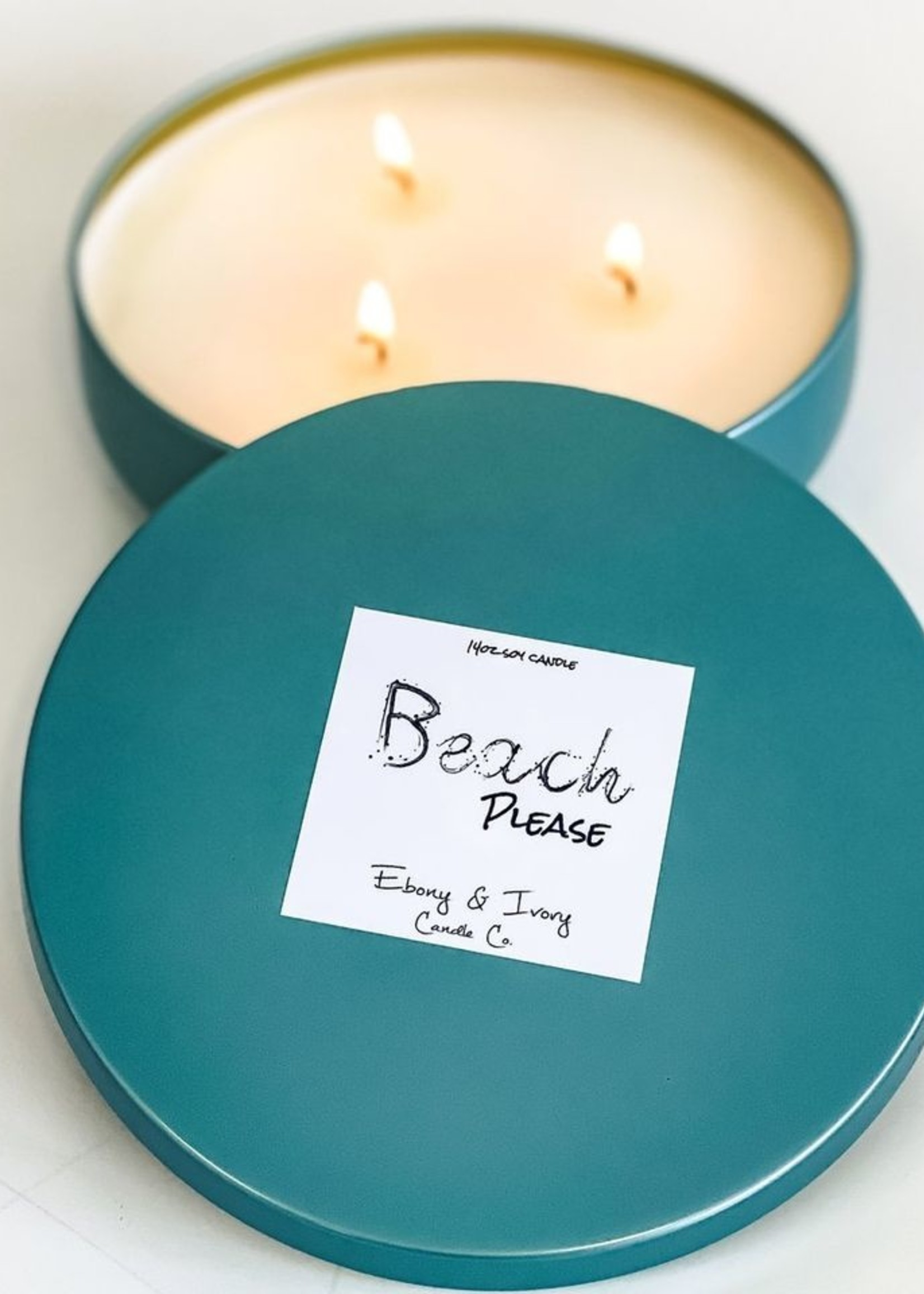 Ebony & Ivory Candle Co. Beach Please 14oz