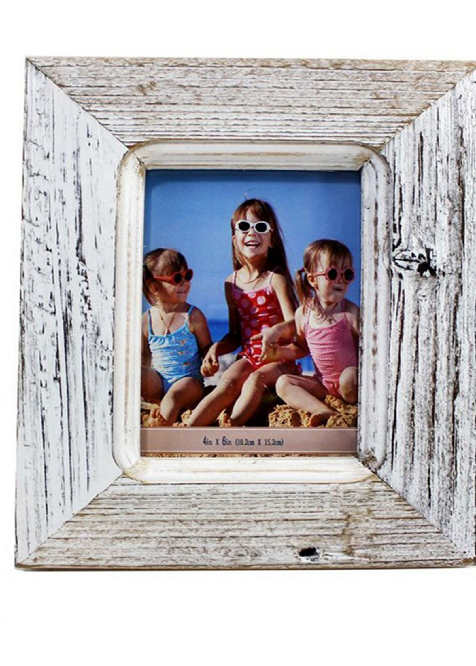 4x6 rustic white wood frame