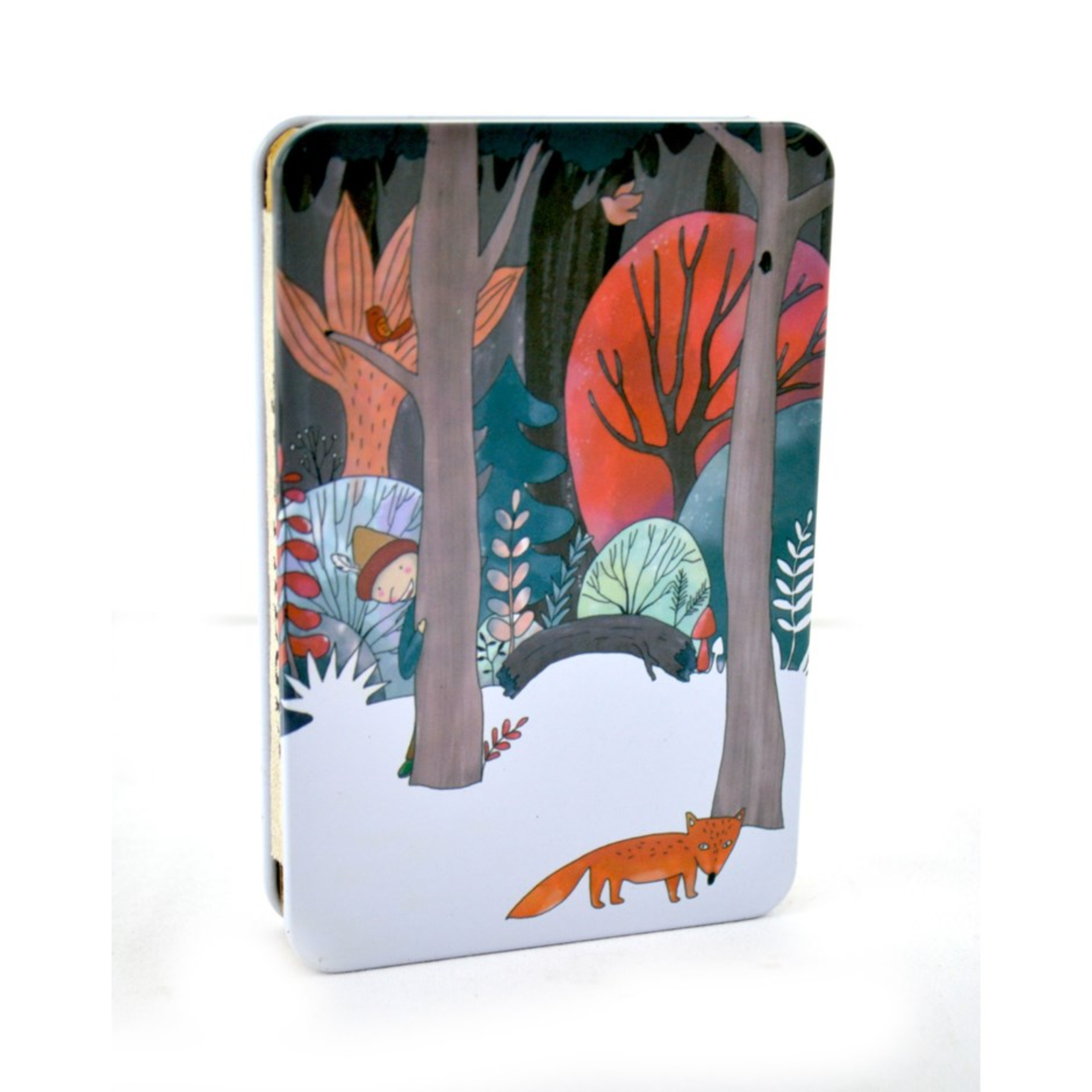 Metal Tin Notebook / Fox
